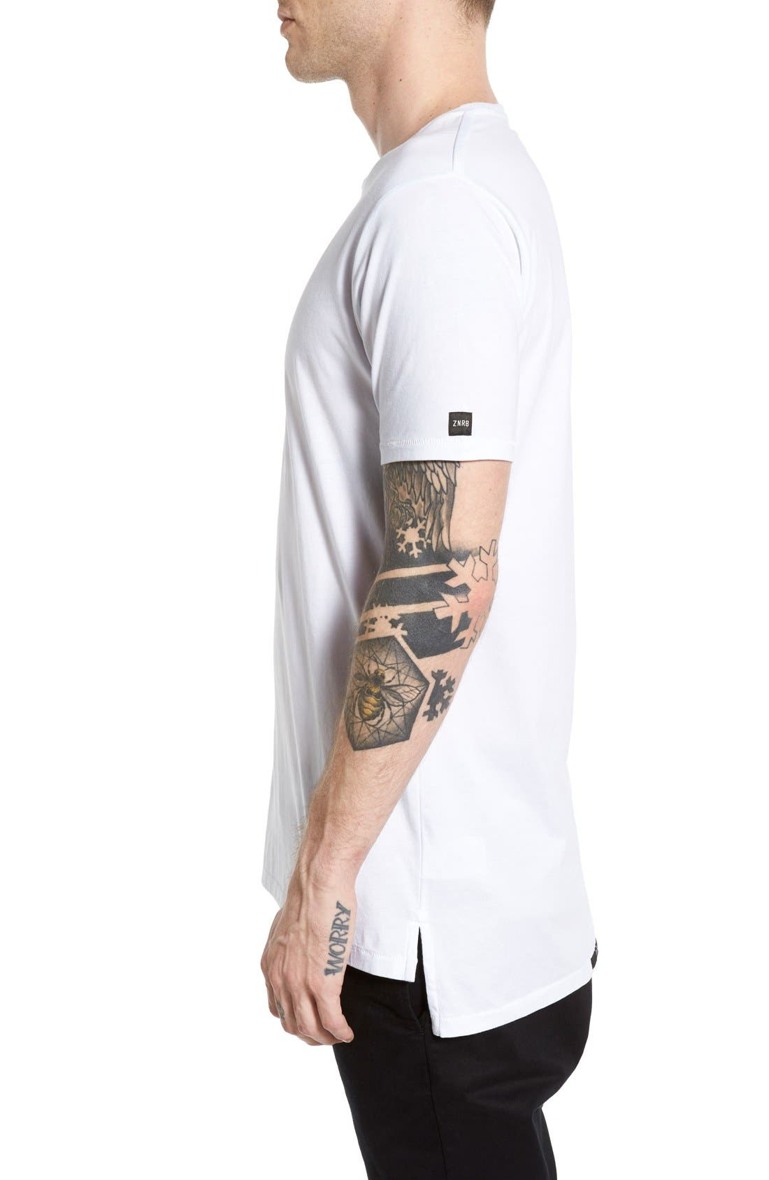 Flintlock Longline T-Shirt,                             Alternate thumbnail 7, color,                             WHITE