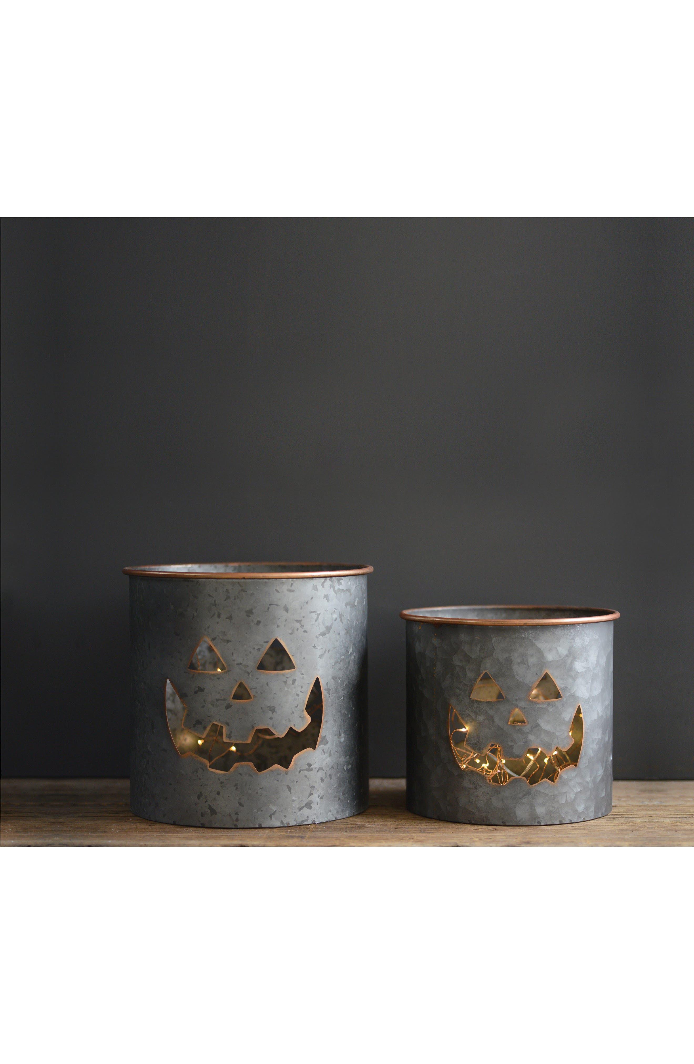 Pumpkin Metal Bucket,                             Alternate thumbnail 3, color,                             040