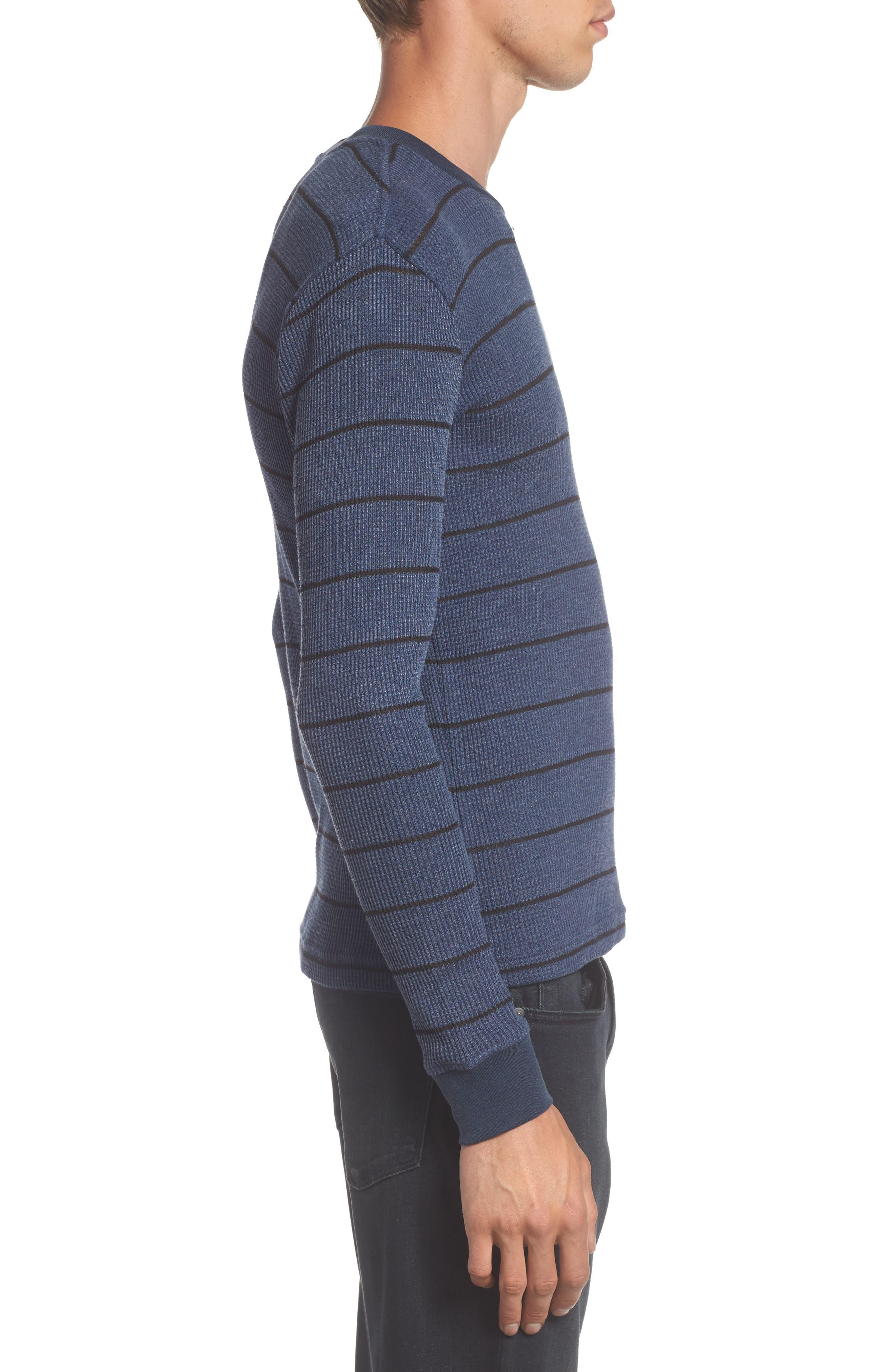 Neutral Stripe Thermal T-Shirt,                             Alternate thumbnail 6, color,