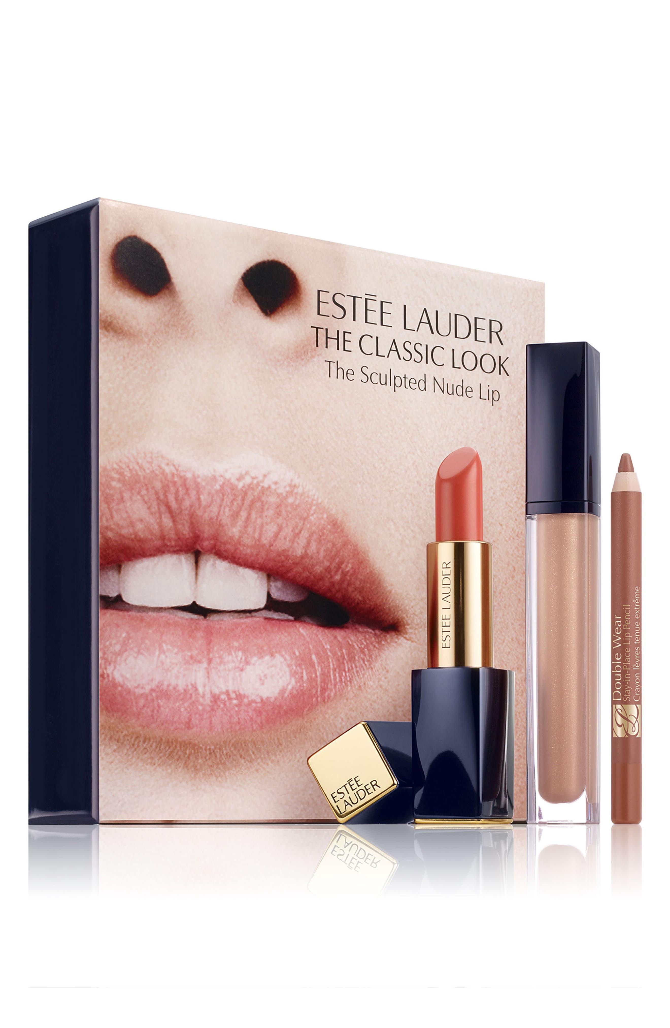The Sculpted Nude Lip Set,                             Main thumbnail 1, color,