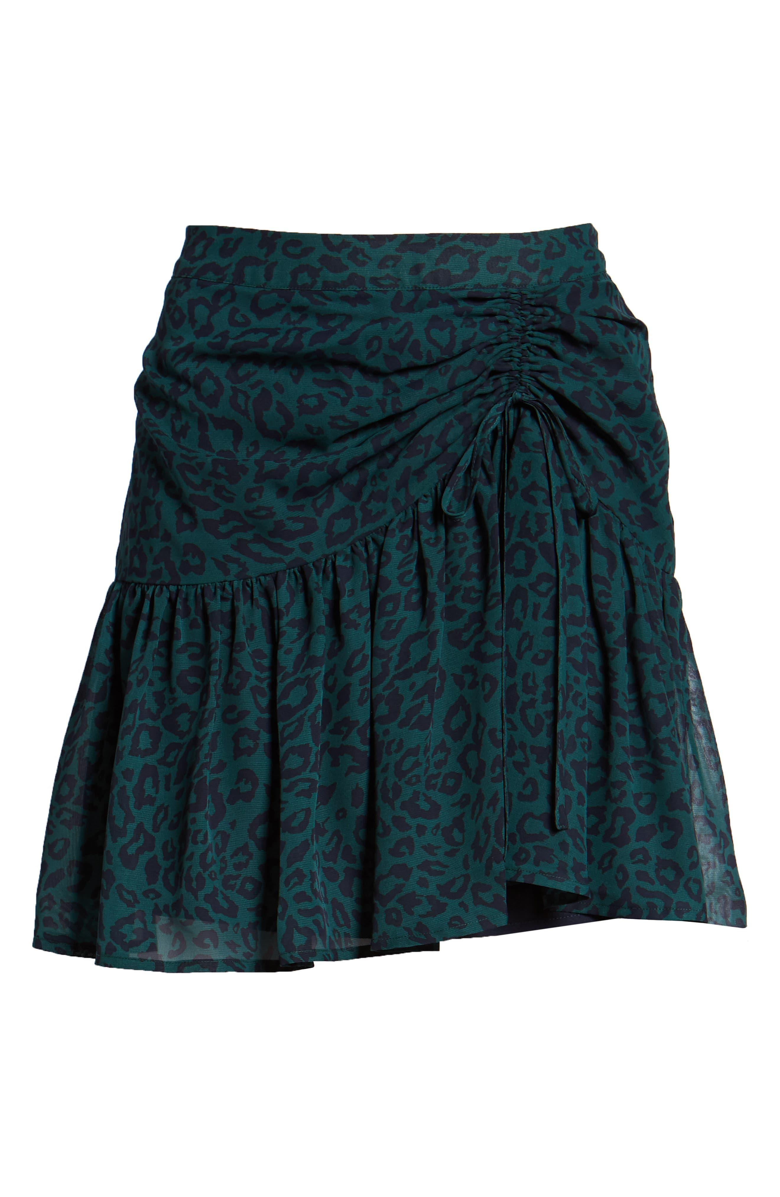 Ruched Ruffle Miniskirt,                             Alternate thumbnail 6, color,                             300