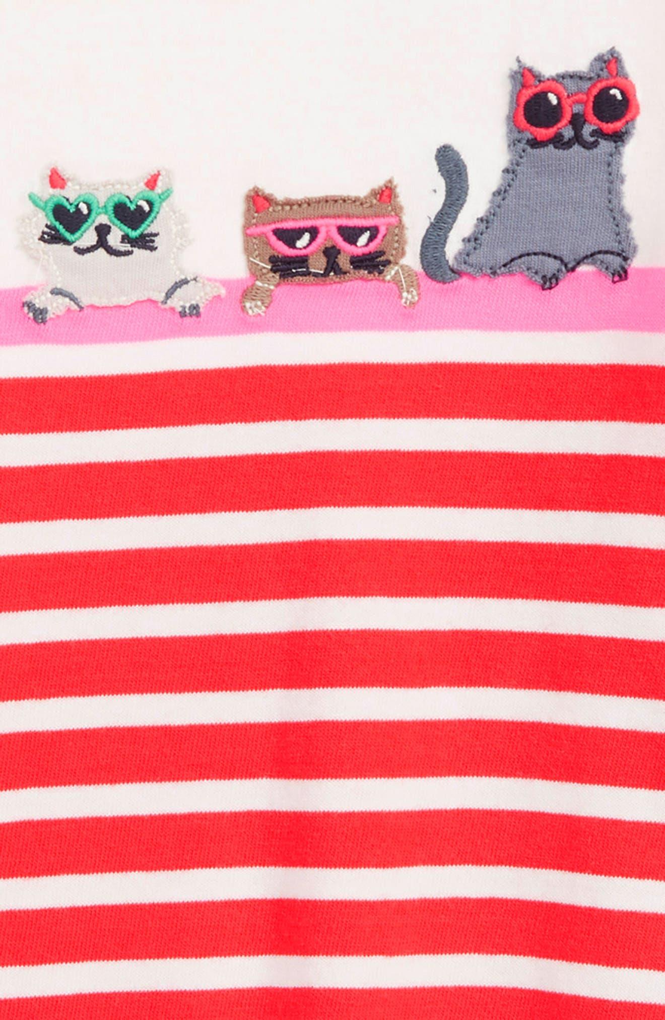 MINI BODEN,                             Stripe Appliqué Tunic,                             Alternate thumbnail 2, color,                             614