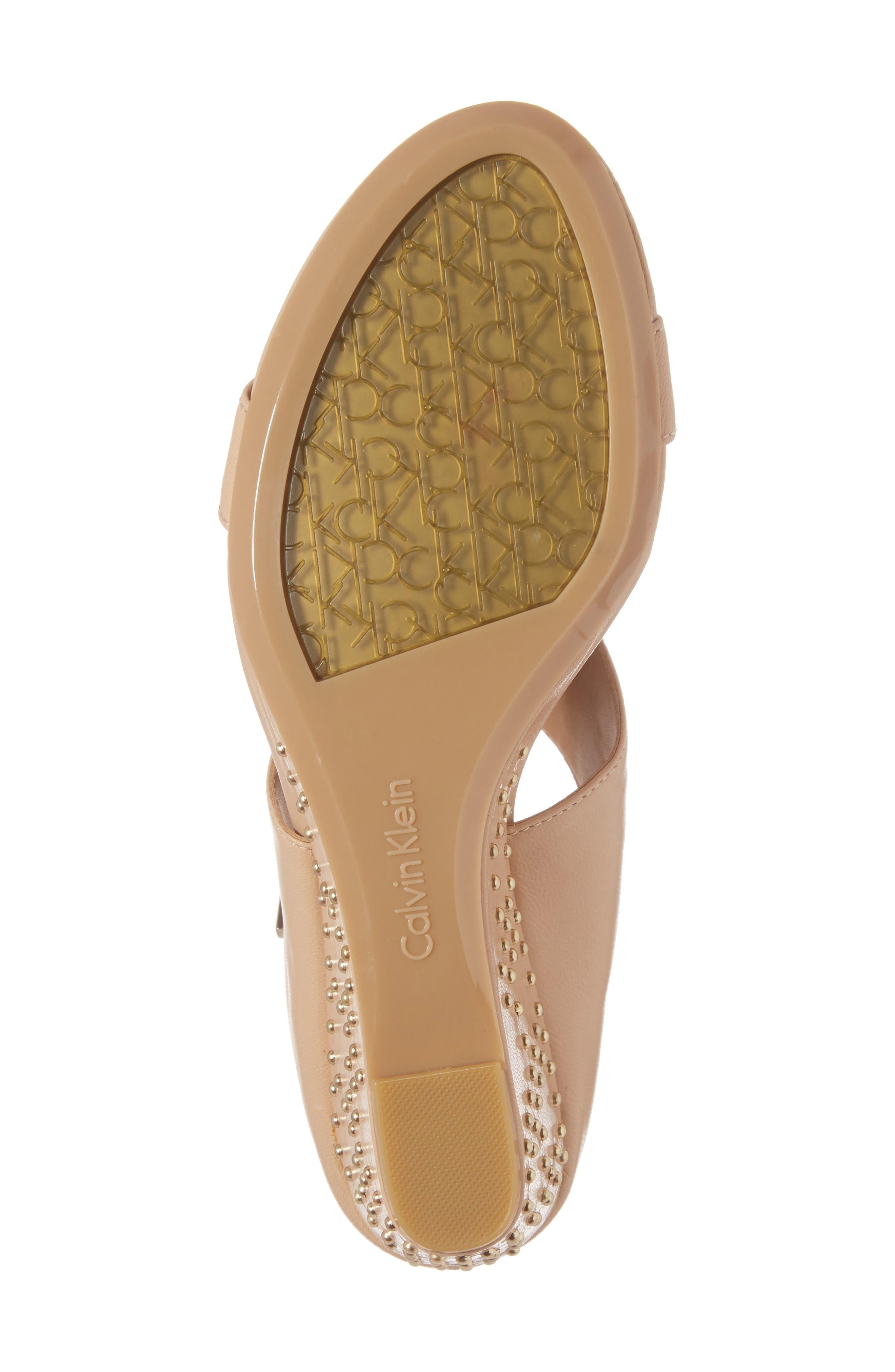 Phyllis Studded Wedge Sandal,                             Alternate thumbnail 24, color,