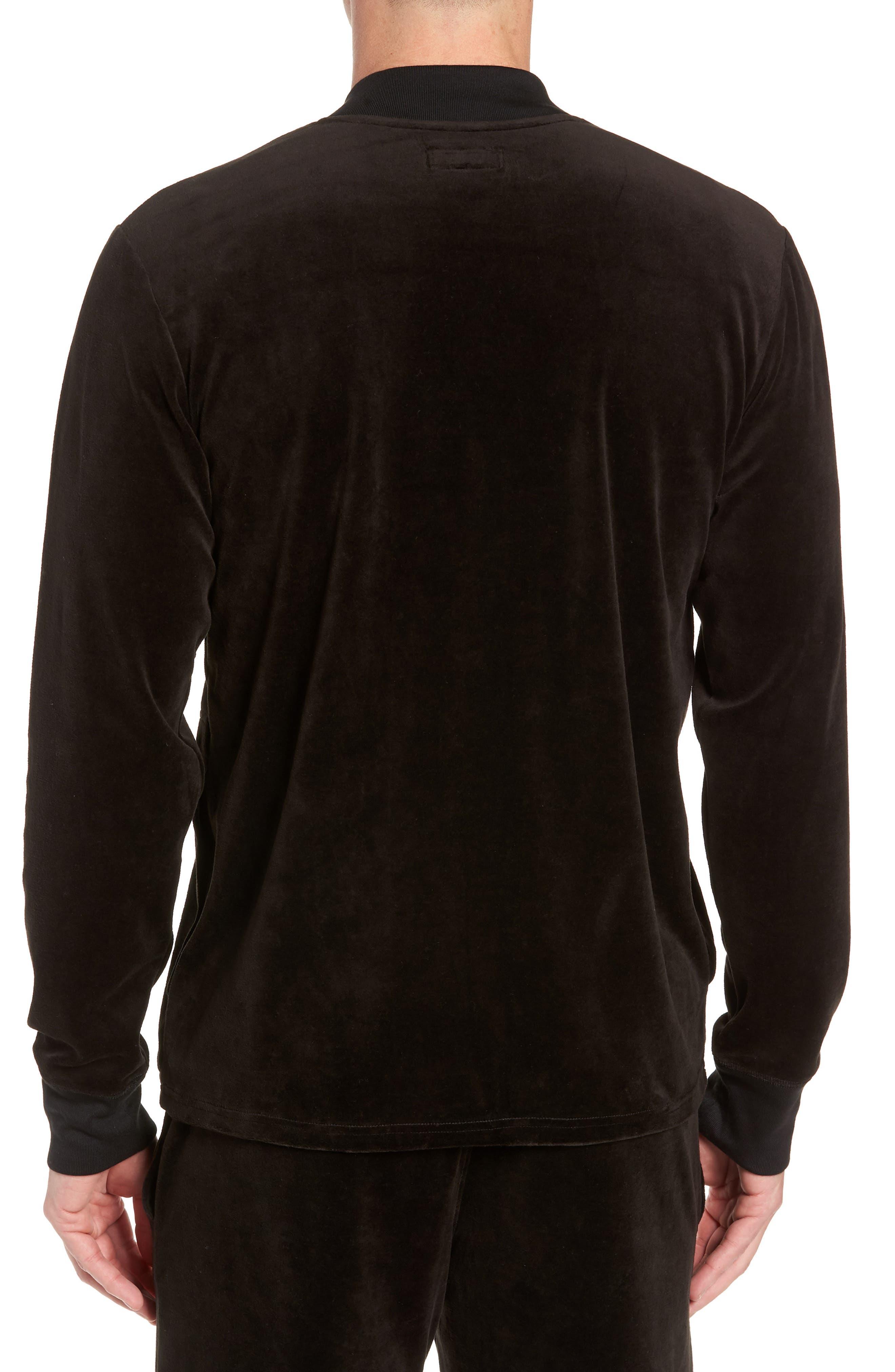 Velour Jacket,                             Alternate thumbnail 2, color,                             POLO BLACK