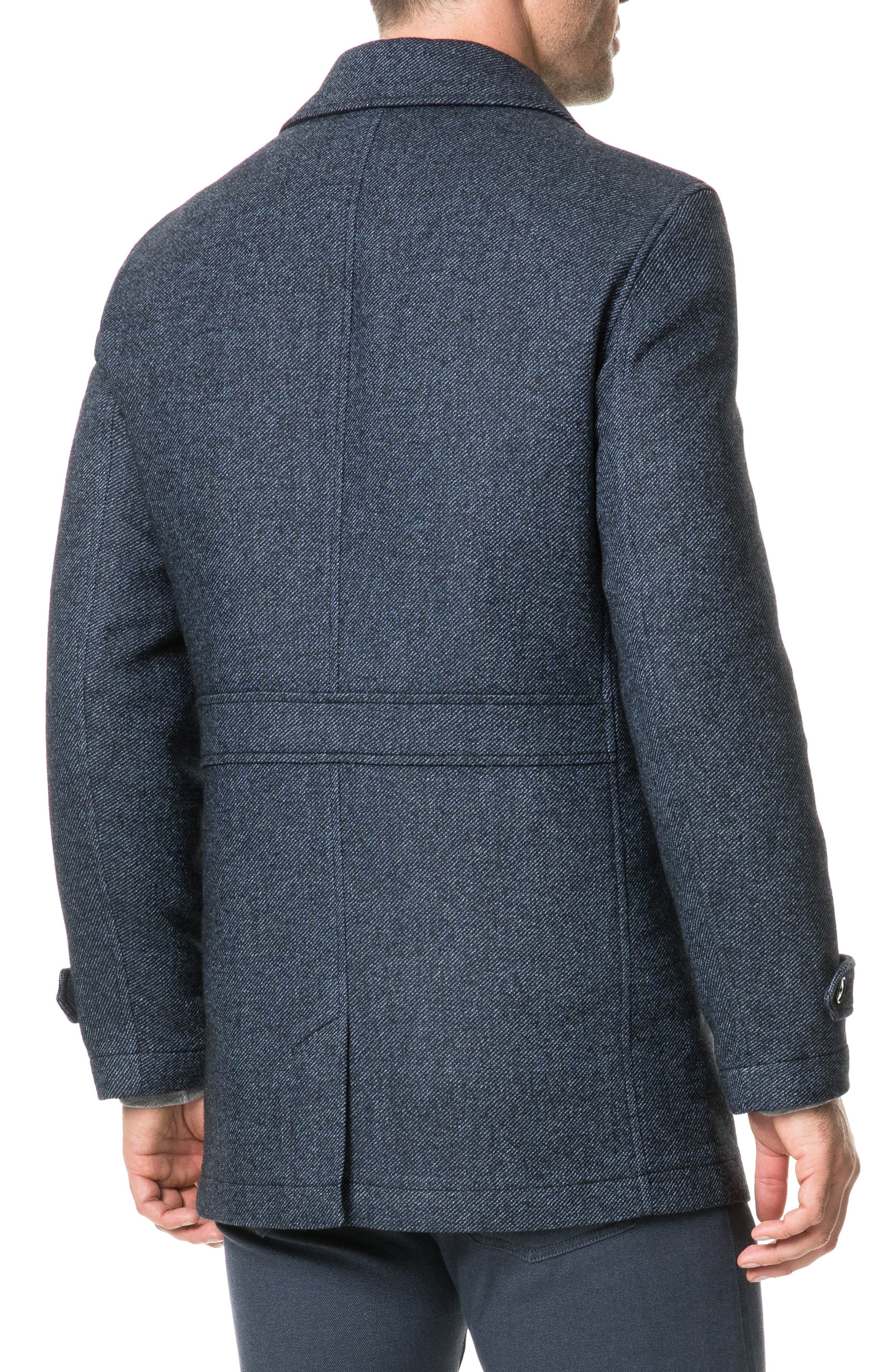 Balmoral Forest Regular Fit Coat,                             Alternate thumbnail 2, color,                             PEACOAT
