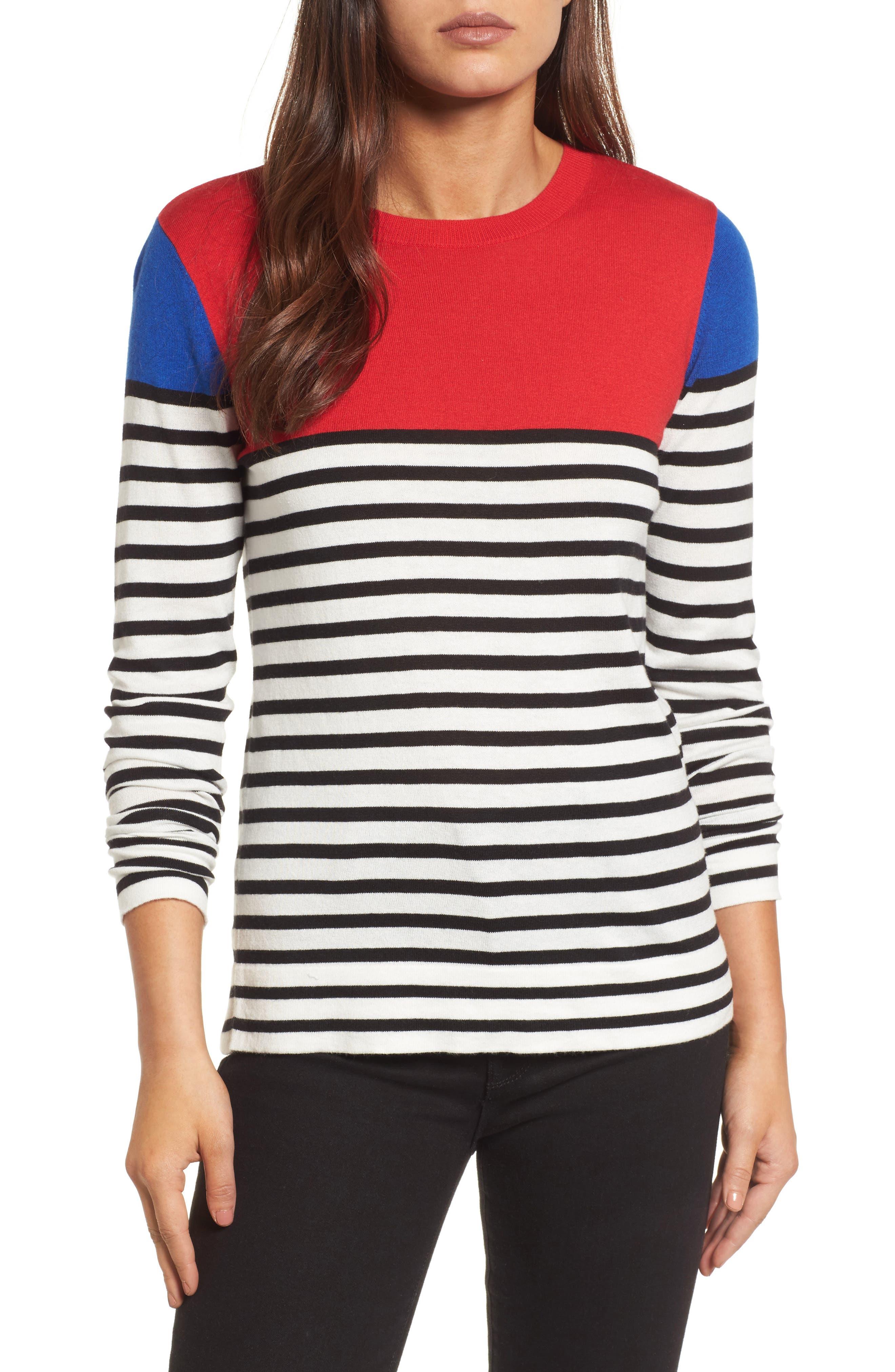 Colorblock Stripe Sweater,                             Main thumbnail 2, color,