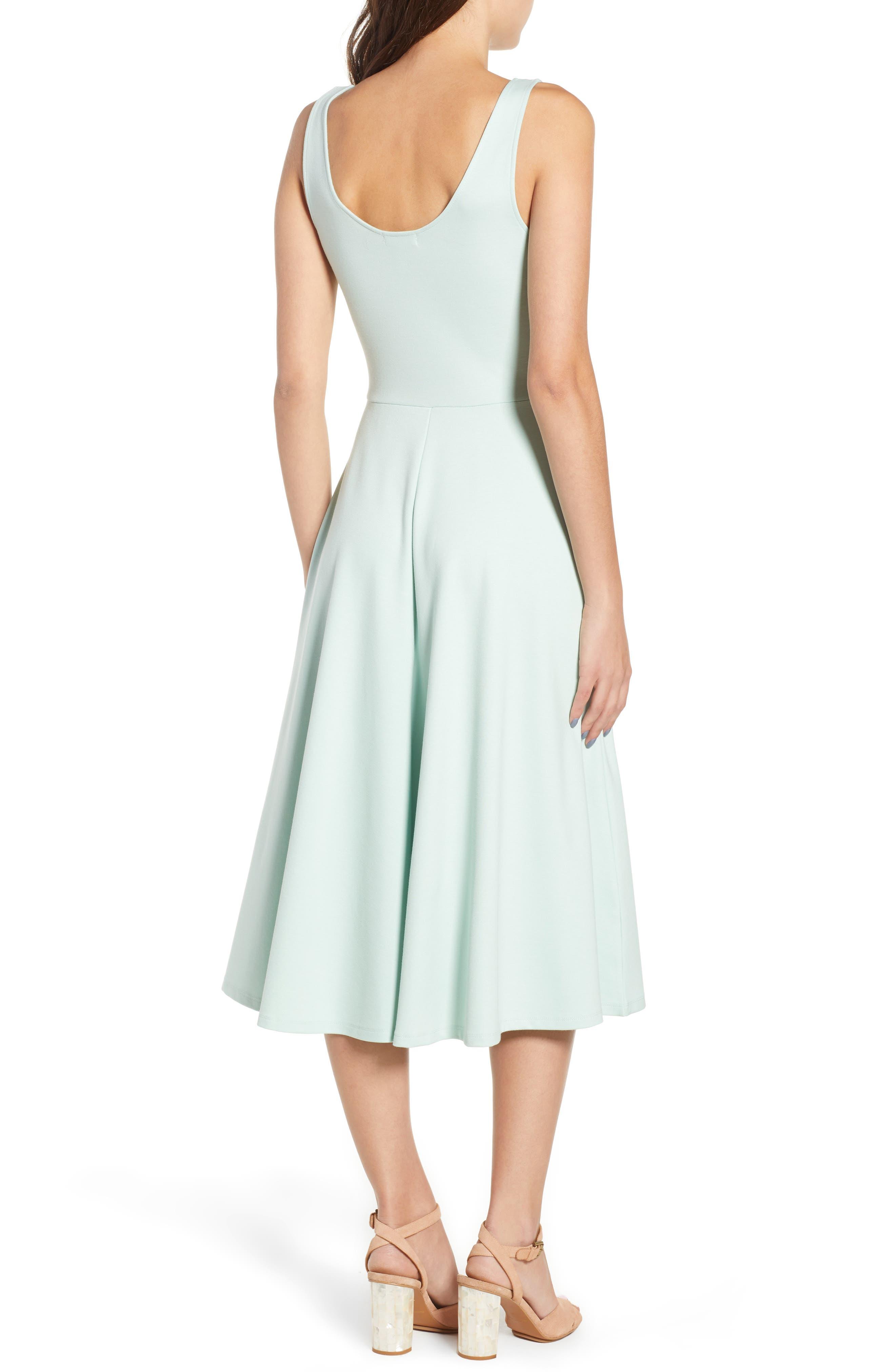Stretch Knit Midi Dress,                             Alternate thumbnail 13, color,
