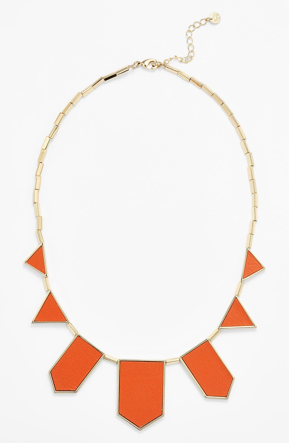 Leather Station Necklace,                             Main thumbnail 15, color,