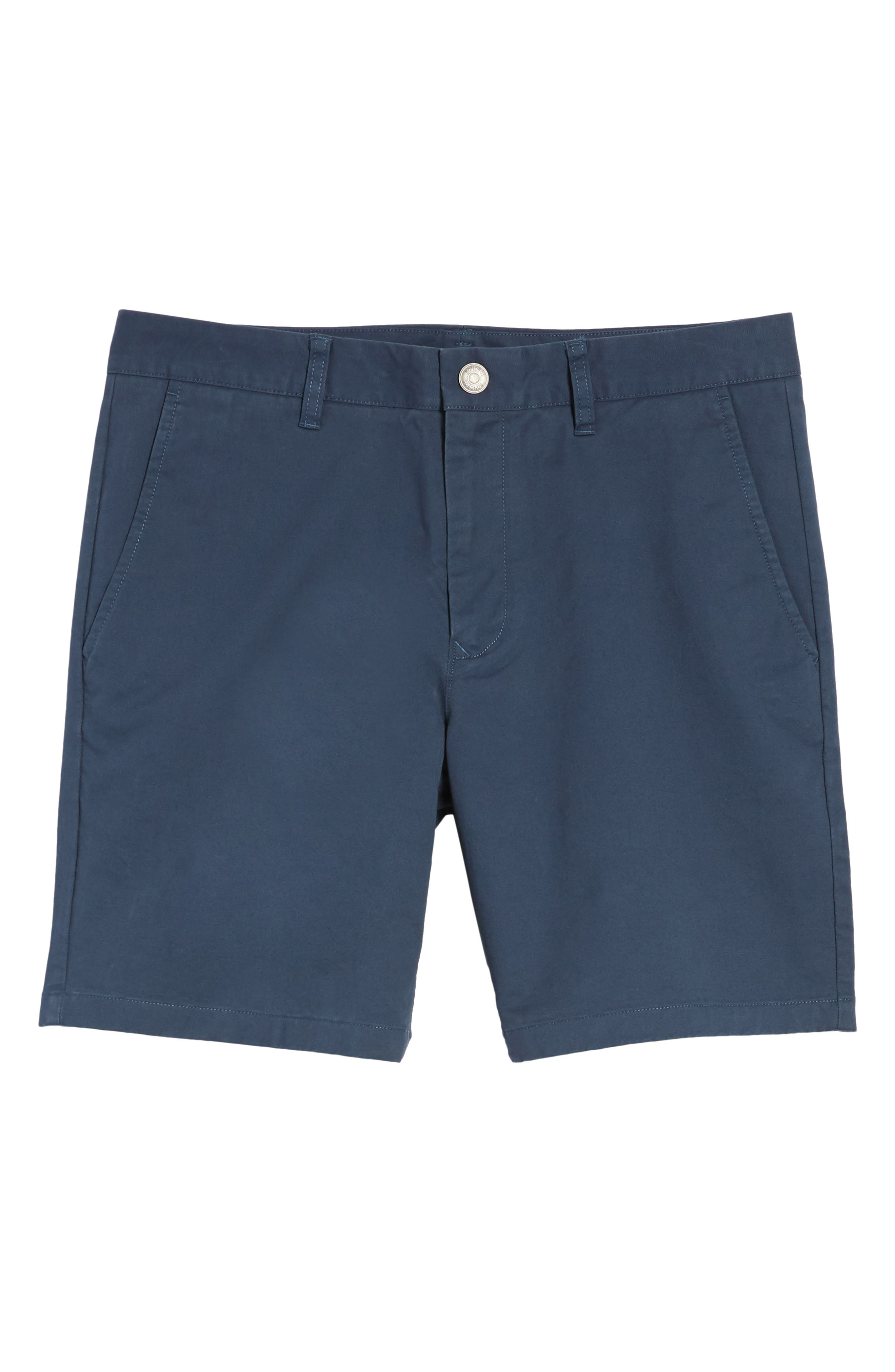 Stretch Washed Chino 7-Inch Shorts,                             Alternate thumbnail 6, color,                             STEELY