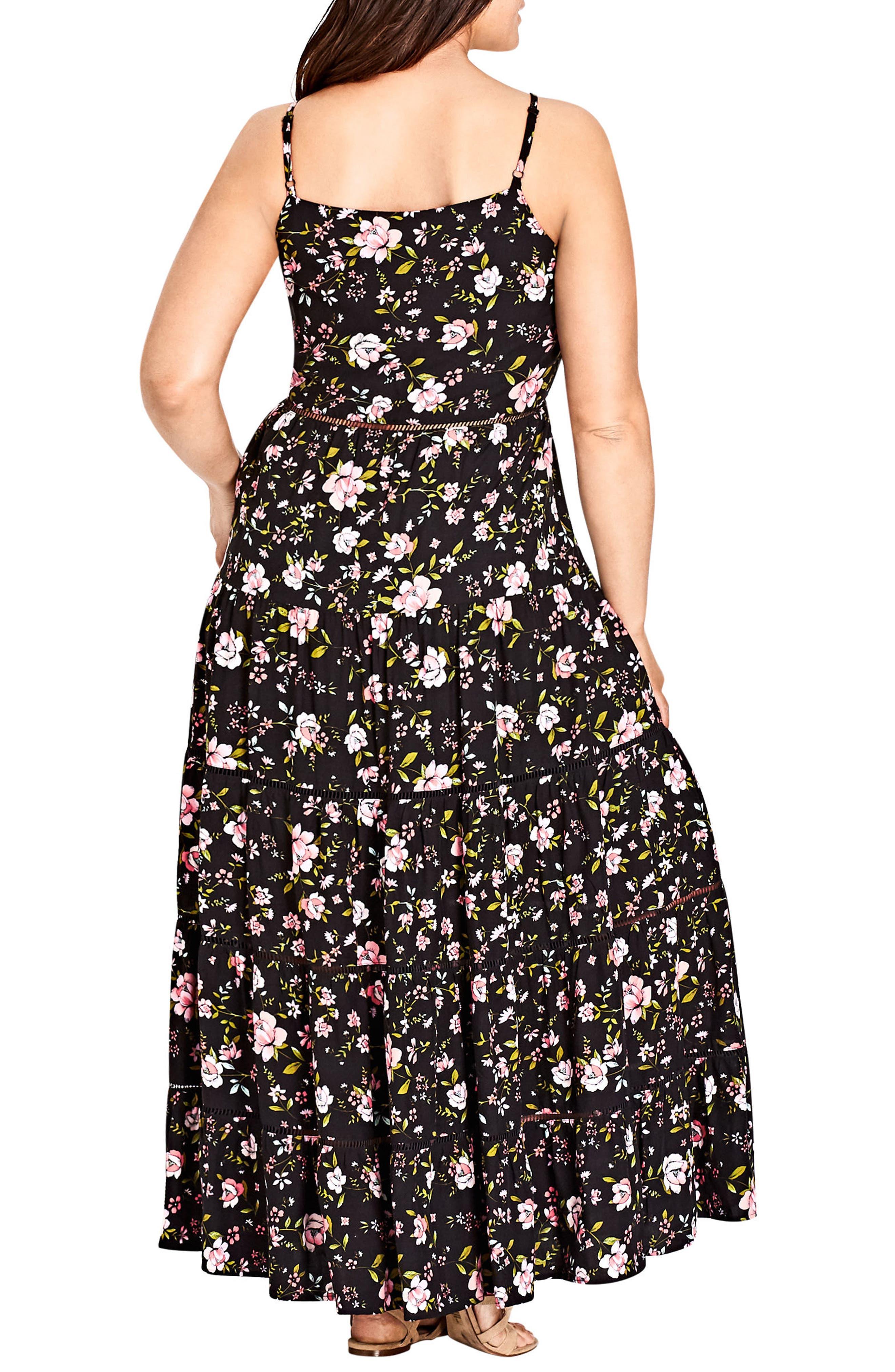 Festival Vibe Maxi Dress,                             Alternate thumbnail 2, color,                             BLACK PRINT