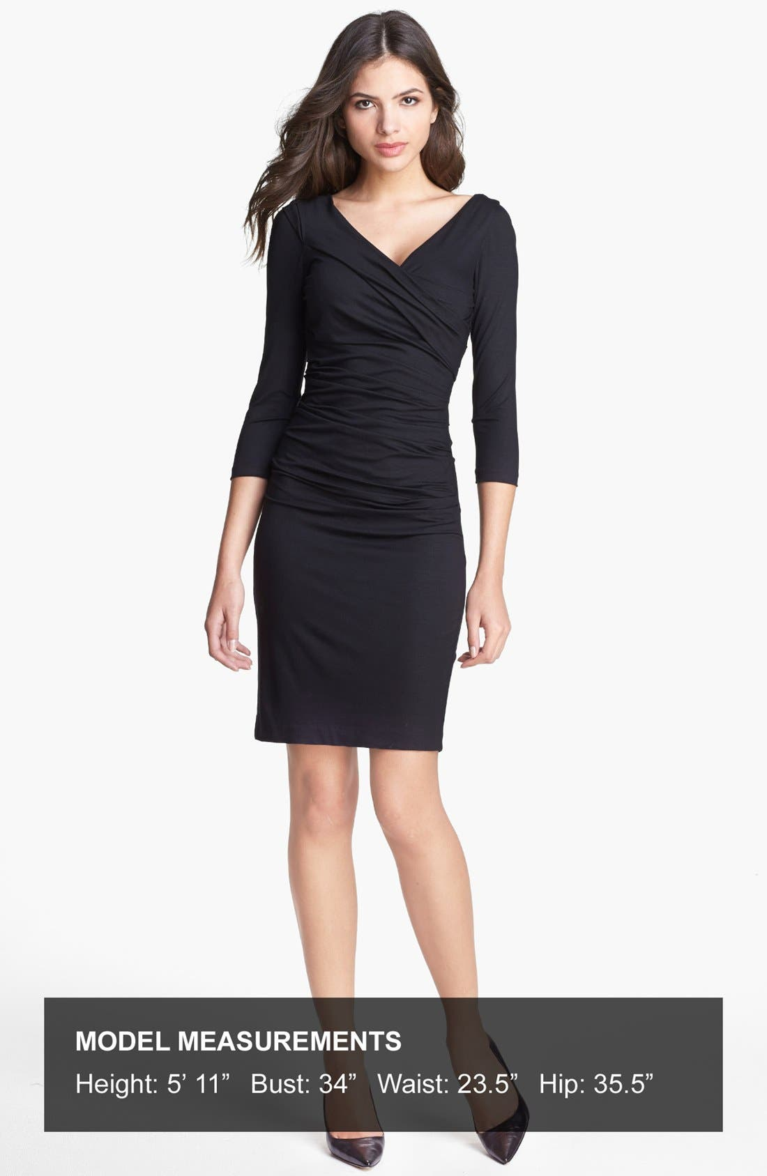 'Bentley' Ruched Dress,                             Alternate thumbnail 2, color,                             001