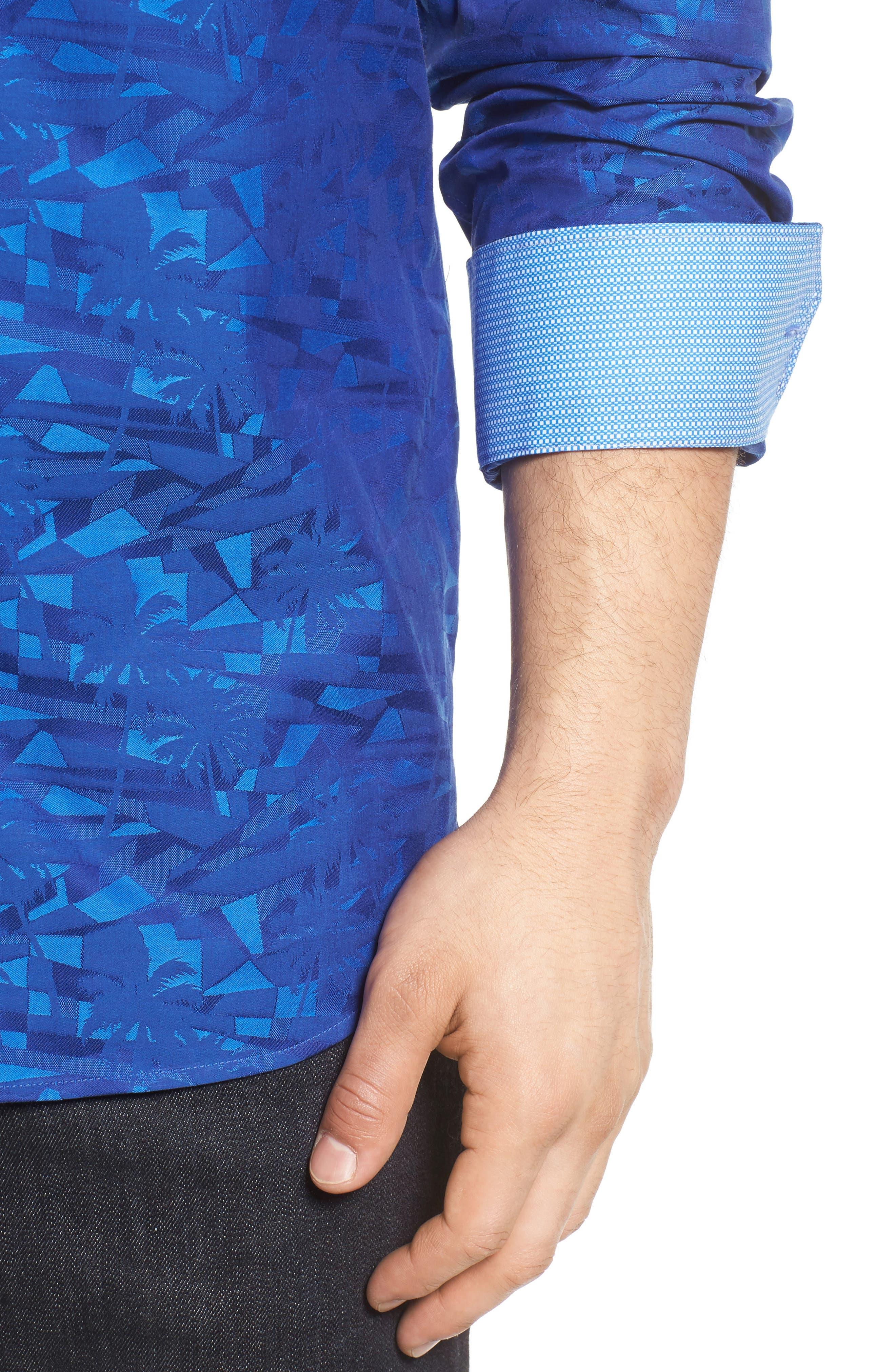 Classic Fit Sport Shirt,                             Alternate thumbnail 4, color,                             411