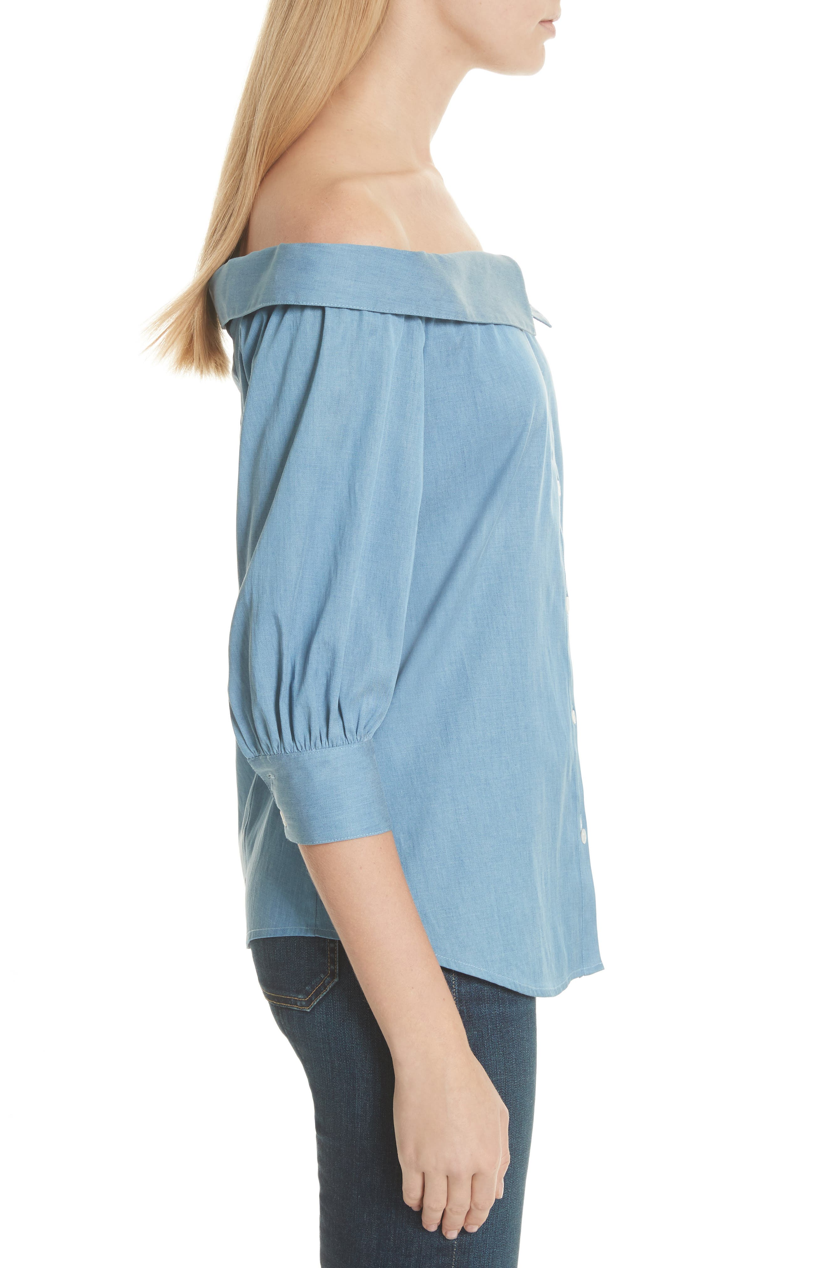 Britta Off the Shoulder Top,                             Alternate thumbnail 3, color,                             423