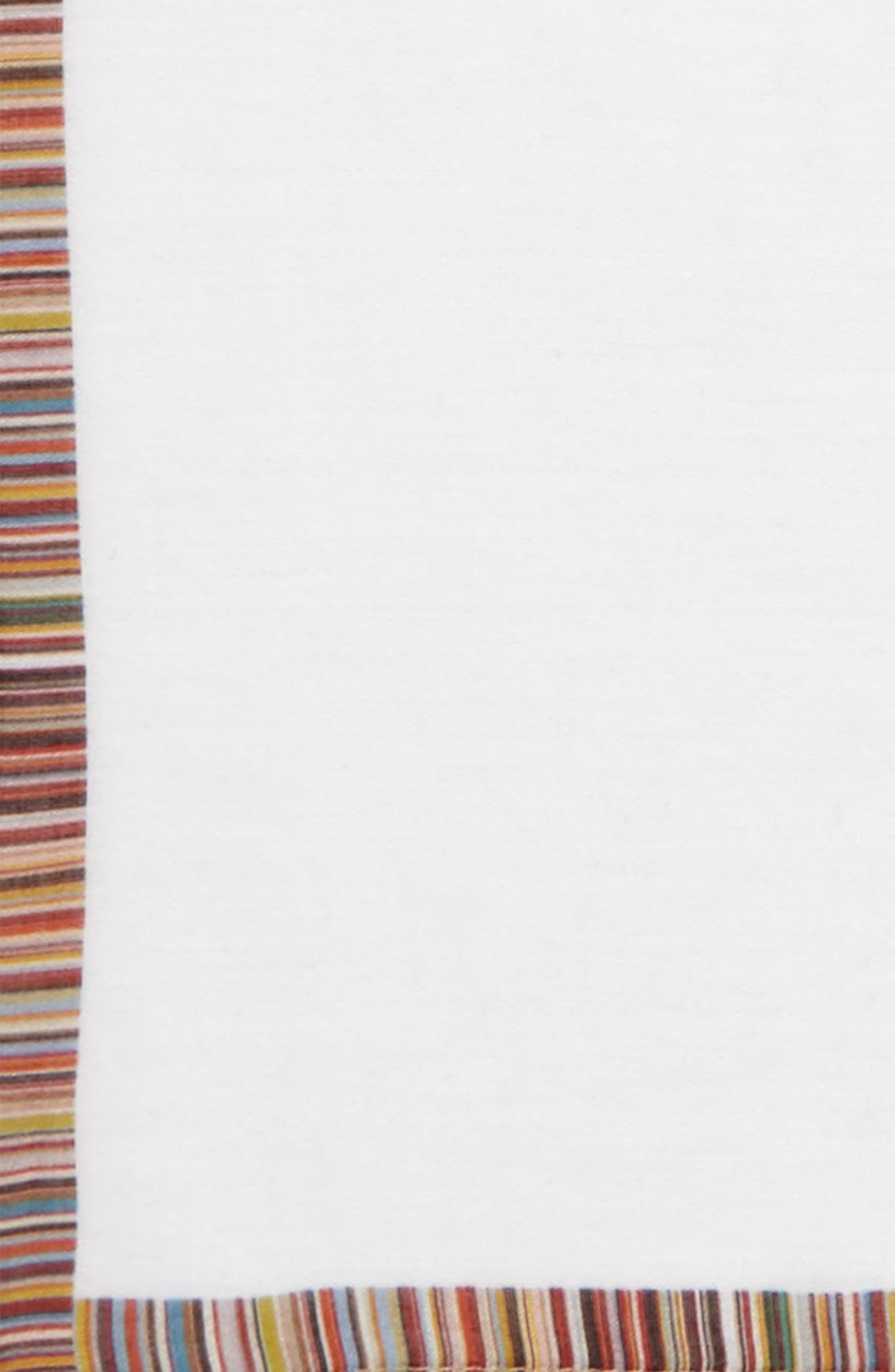 Multistripe Trim Pocket Square,                             Alternate thumbnail 3, color,                             WHITE