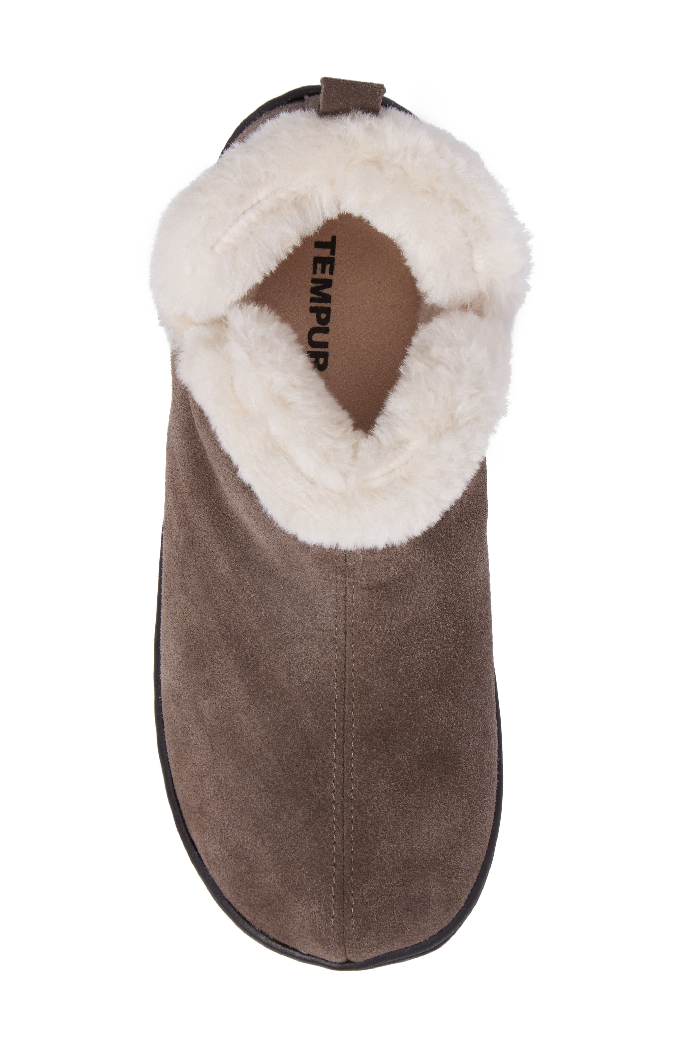 Vallery Bootie Slipper,                             Alternate thumbnail 5, color,                             GRAY SUEDE