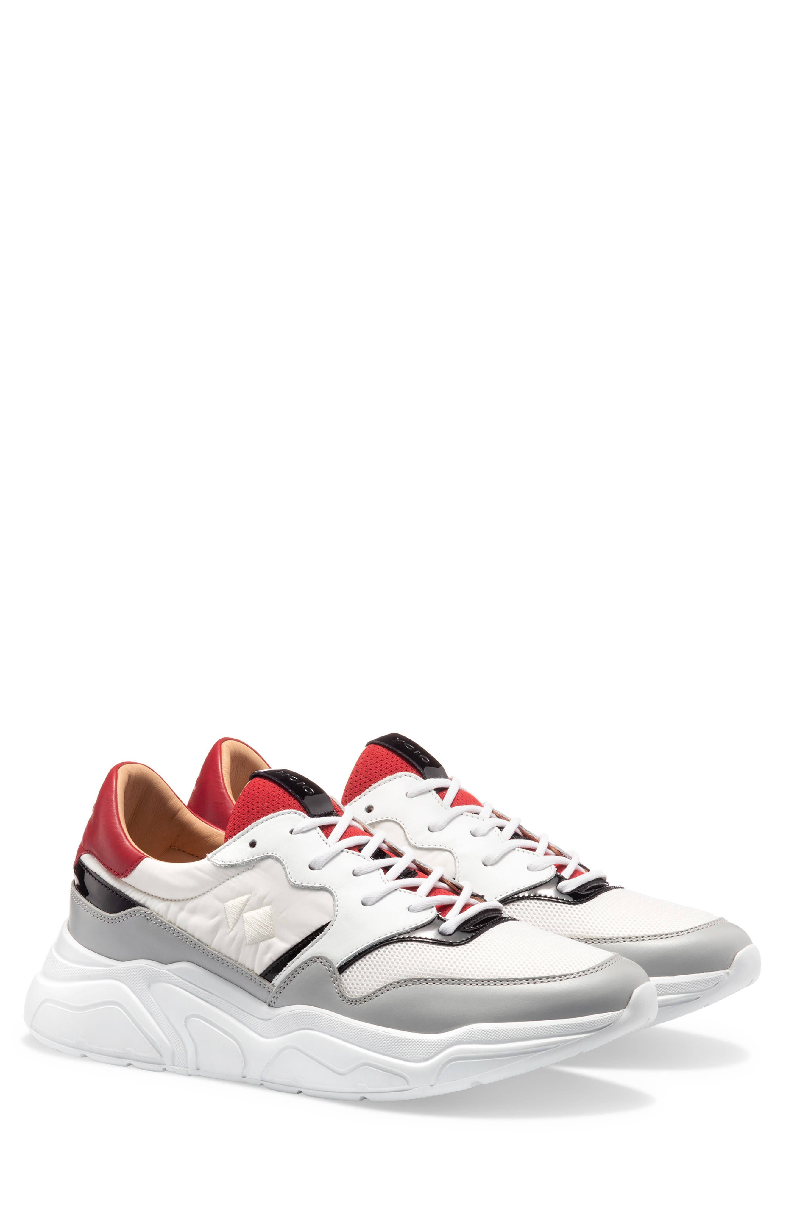 KOIO Avalanche Sneaker in Red/ Gray
