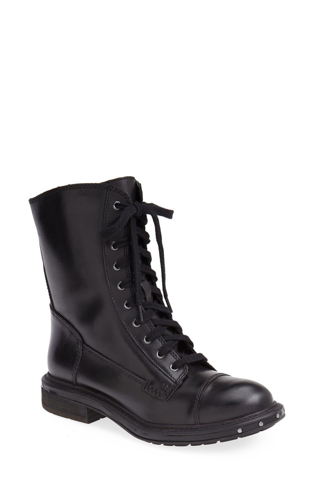 NAYA,                             'Renata' Hand Finished Leather Boot,                             Main thumbnail 1, color,                             001