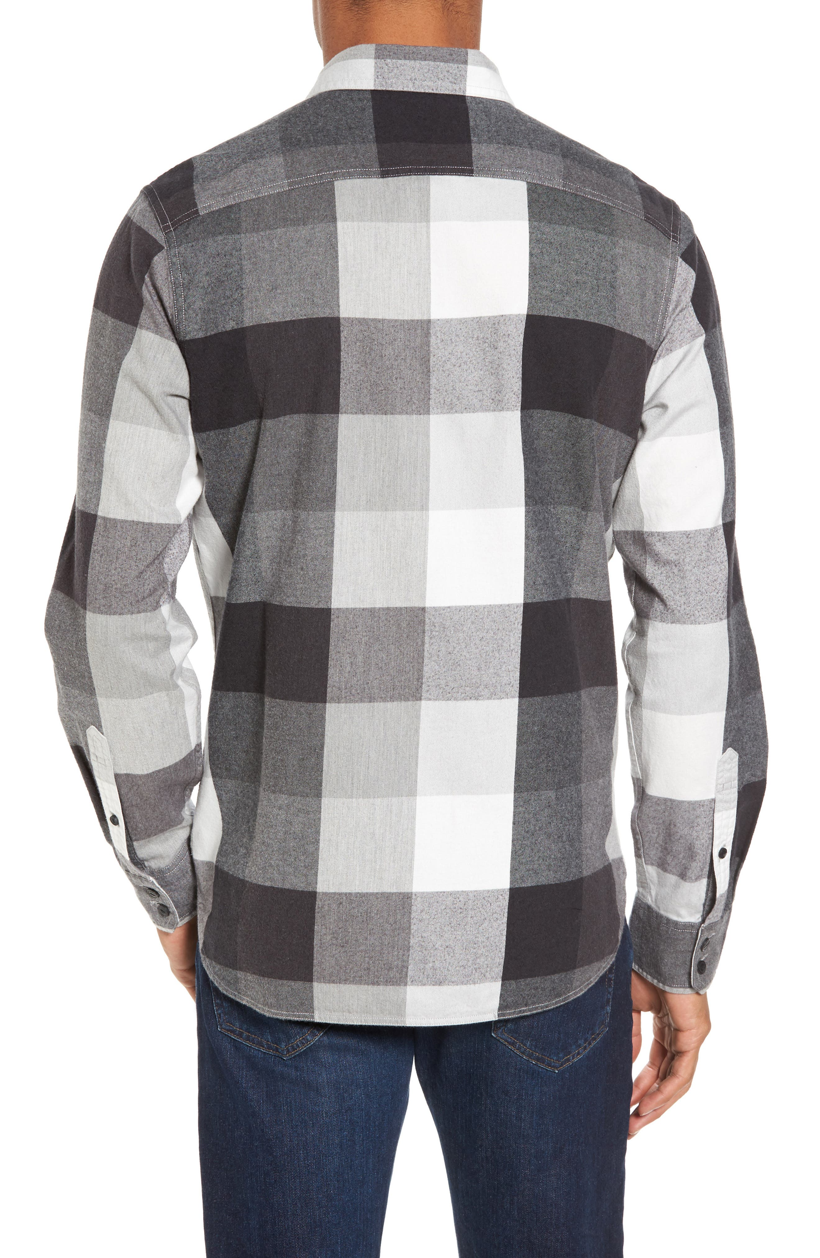 Trim Fit Workwear Check Flannel Shirt,                             Alternate thumbnail 2, color,                             030