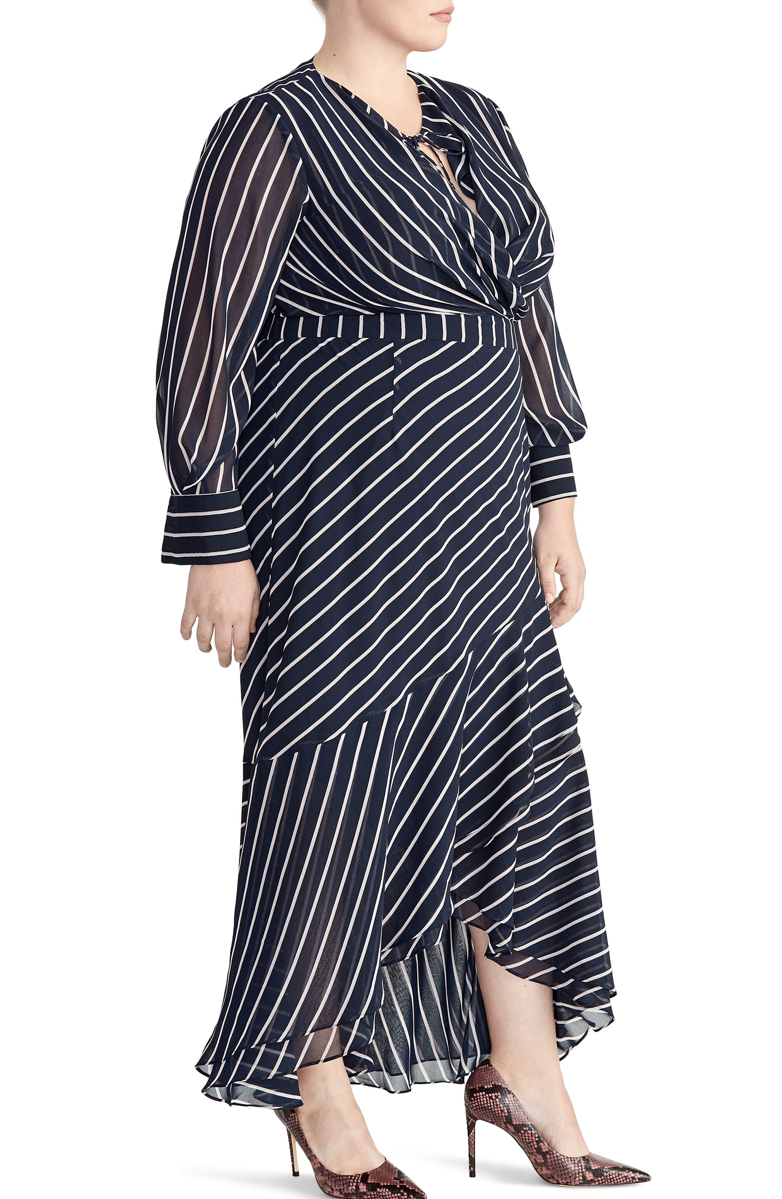 Plus Size Rachel Roy Collection Stripe Print Maxi Dress, Blue