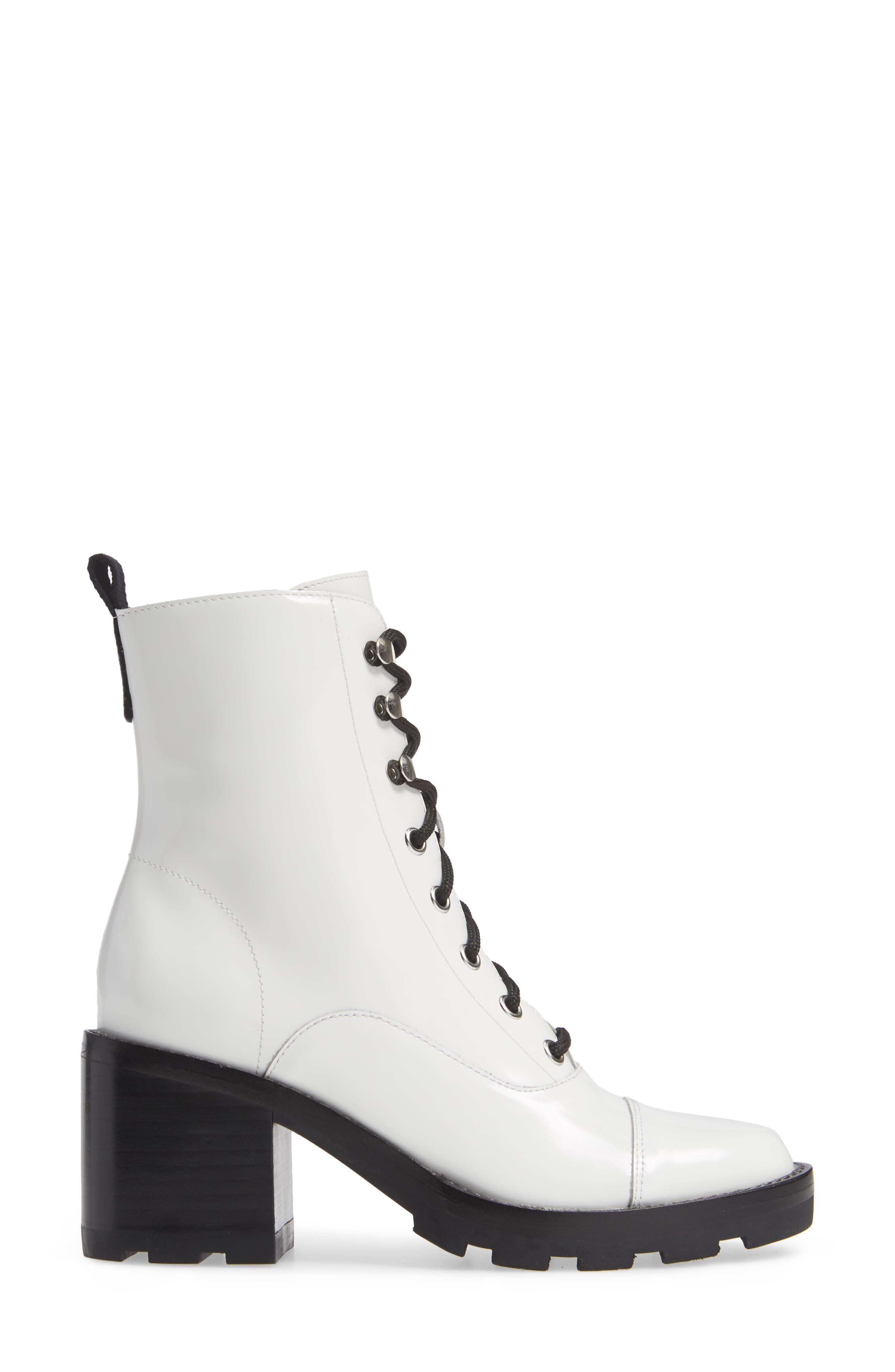 Wanya Boot,                             Alternate thumbnail 3, color,                             WHITE LEATHER