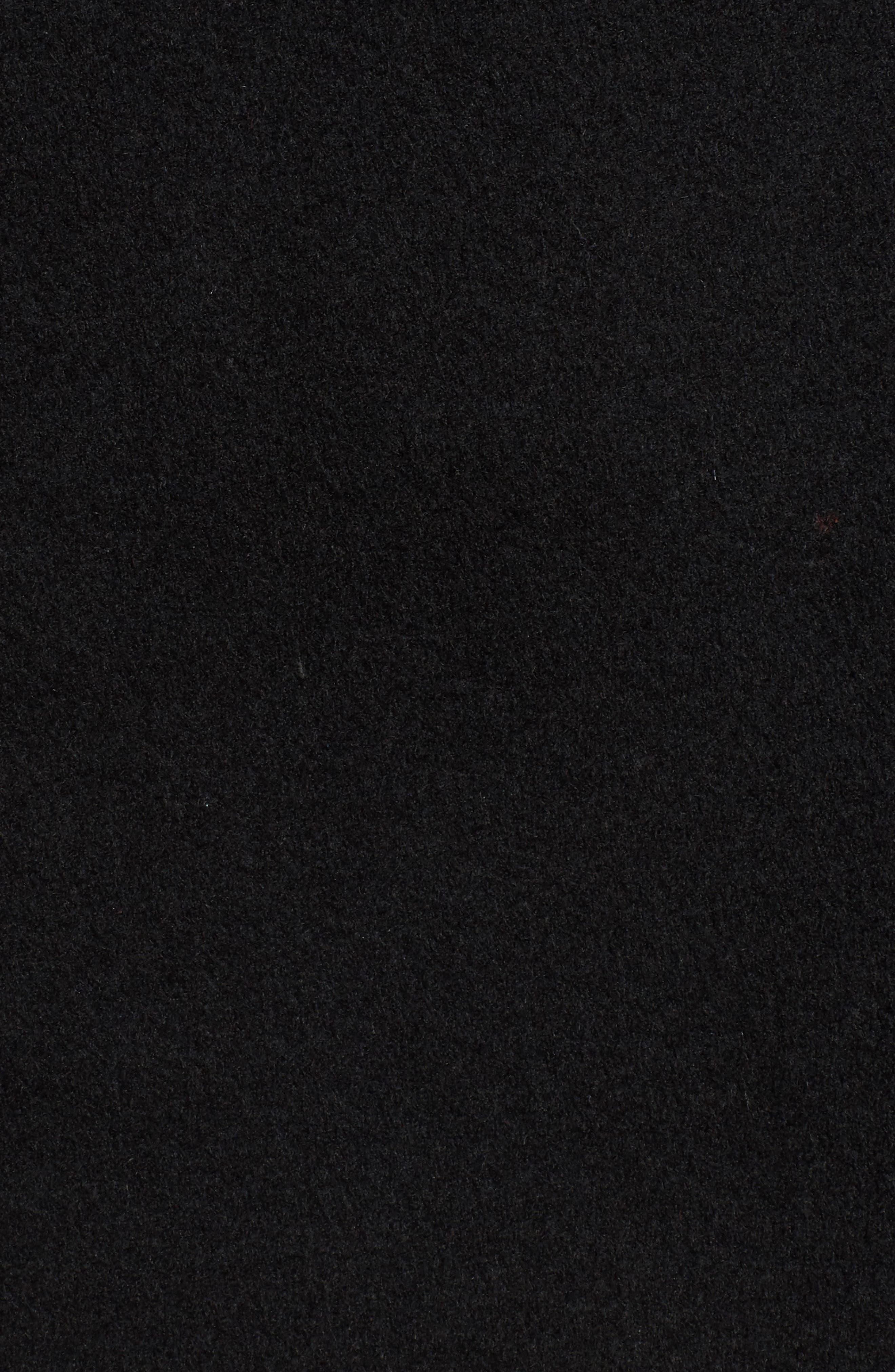 Wool Blend Coat,                             Alternate thumbnail 7, color,                             BLACK
