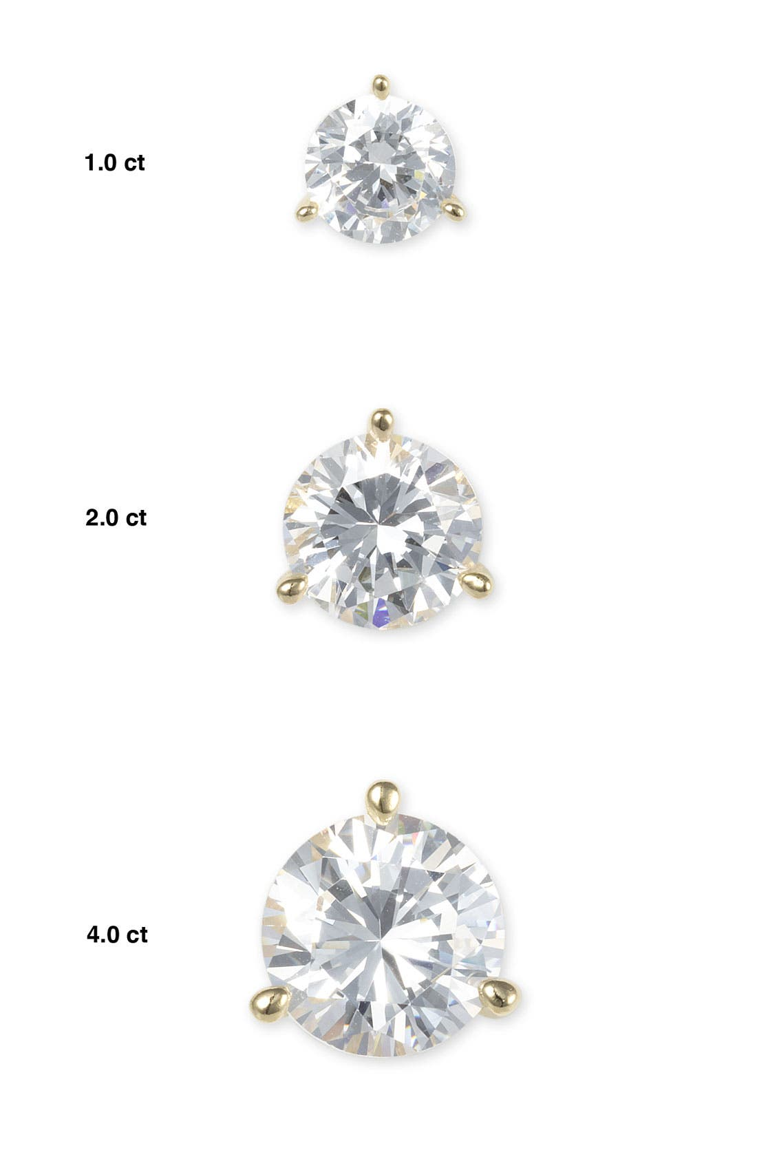 'Martini Set' Cubic Zirconia Stud Earrings,                             Alternate thumbnail 2, color,                             040