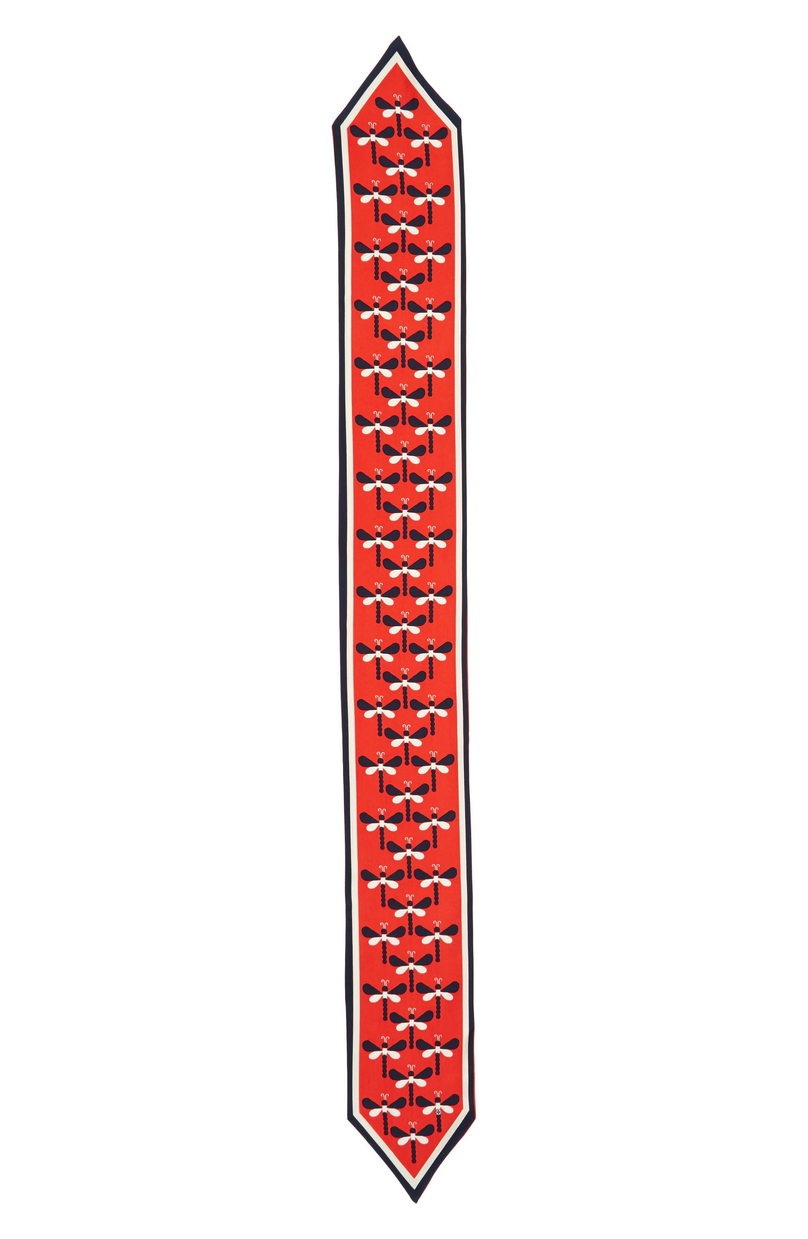 Dragonfly Silk Necktie,                             Alternate thumbnail 4, color,