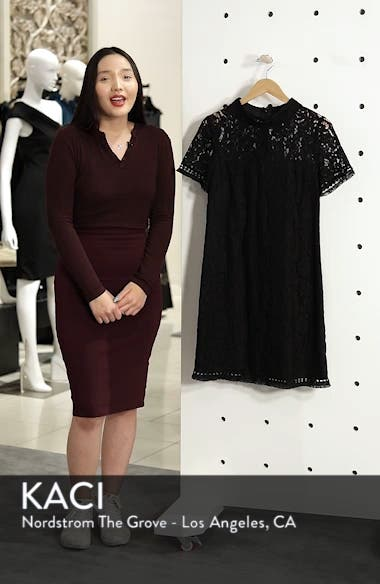 High Neck Lace Shift Dress, sales video thumbnail