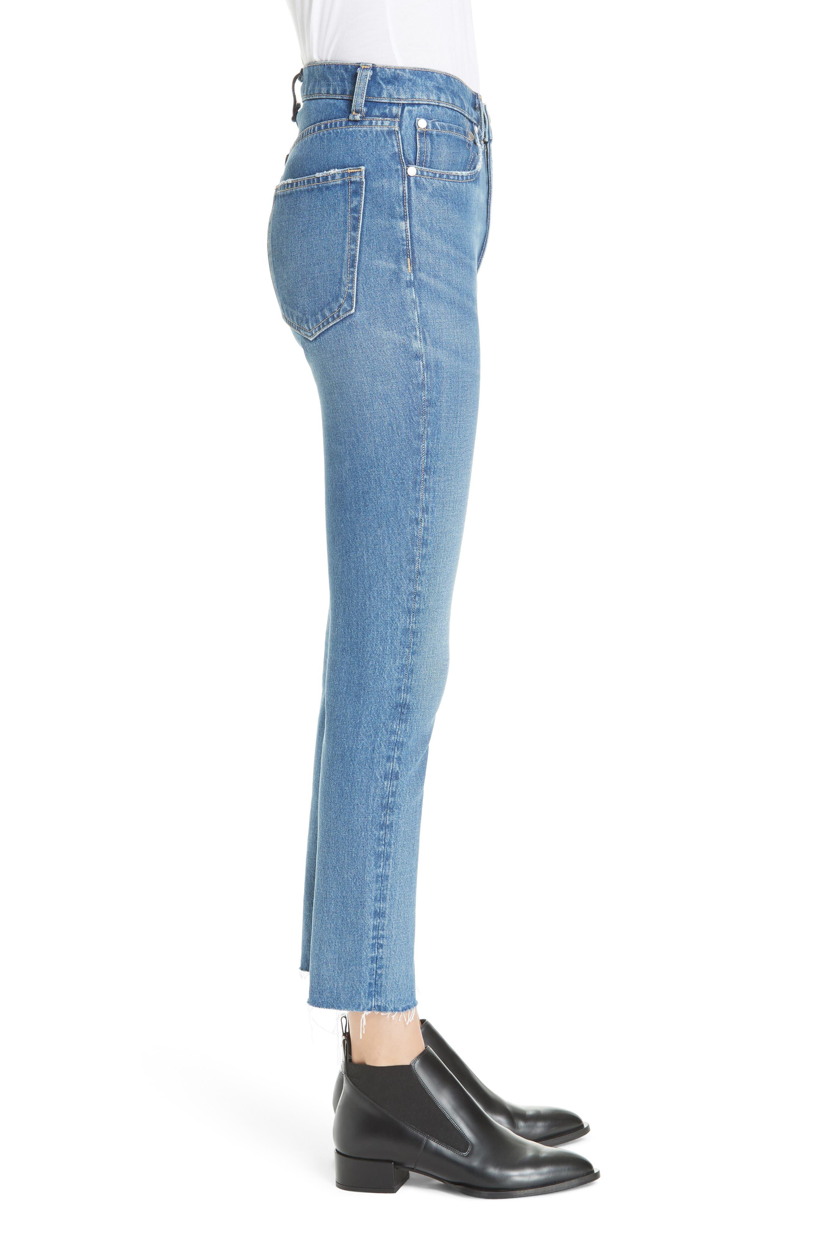 High Waist Ankle Skinny Jeans,                             Alternate thumbnail 3, color,                             420