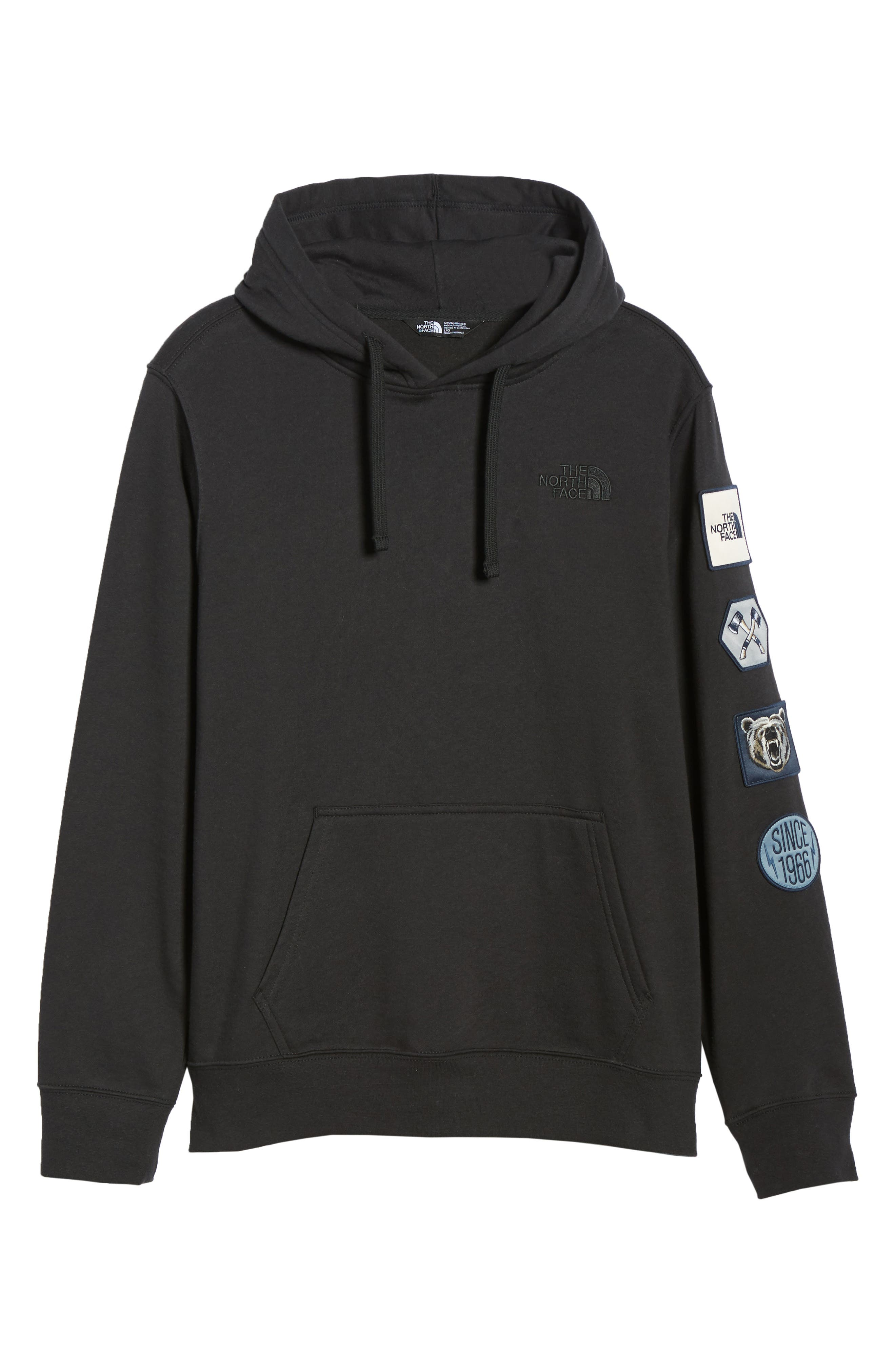 Urban Patches Hoodie,                             Alternate thumbnail 6, color,                             001