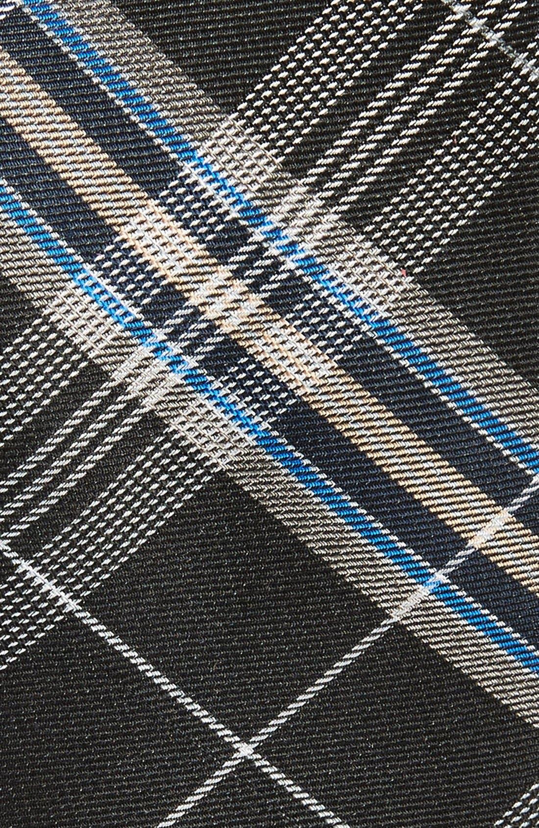 'Z-Plaid' Silk Tie,                             Alternate thumbnail 2, color,                             001