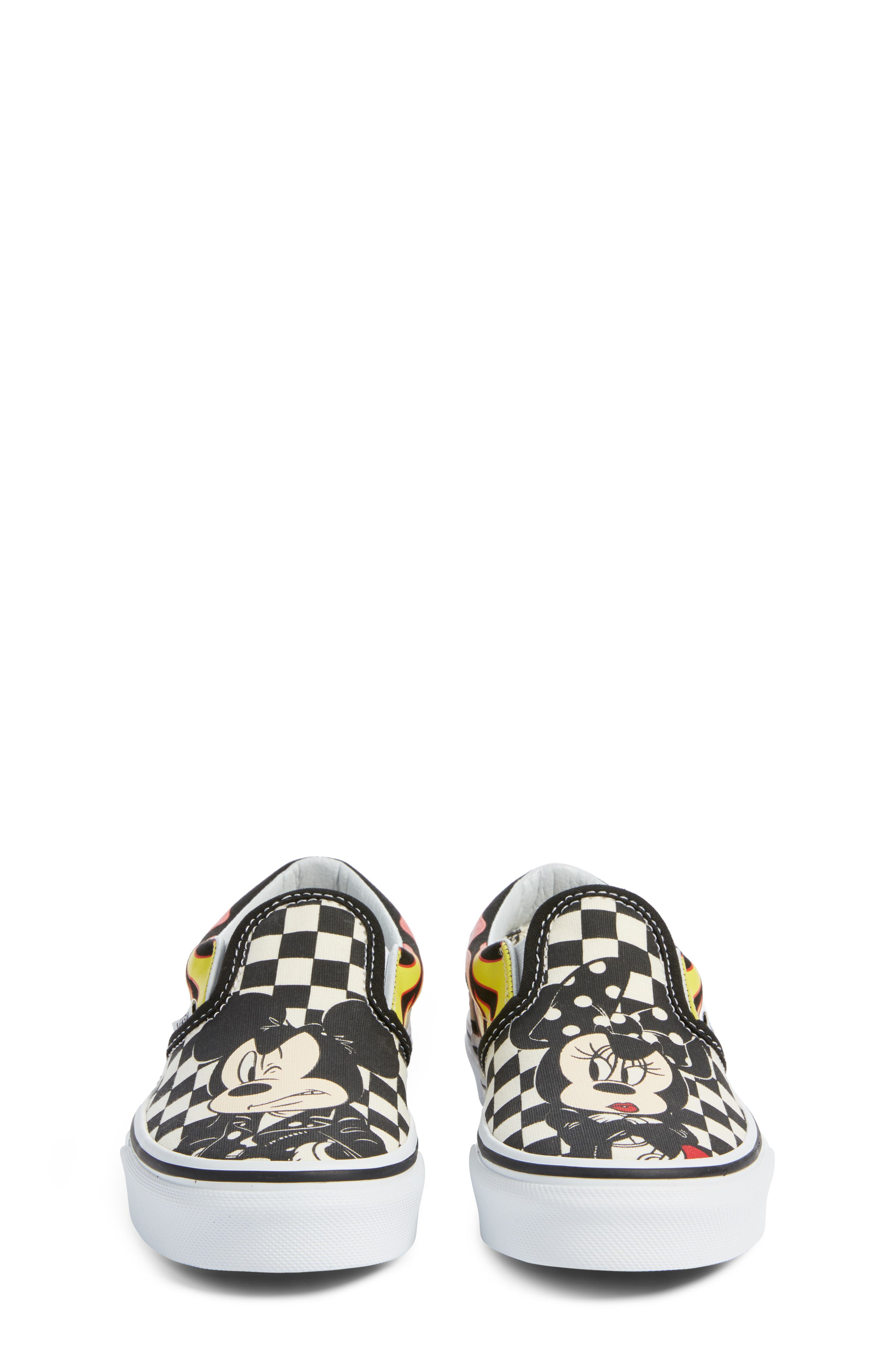x Disney Mickey Mouse Classic Slip-On Sneaker,                             Alternate thumbnail 5, color,                             DISNEY MICKEY MINNIE