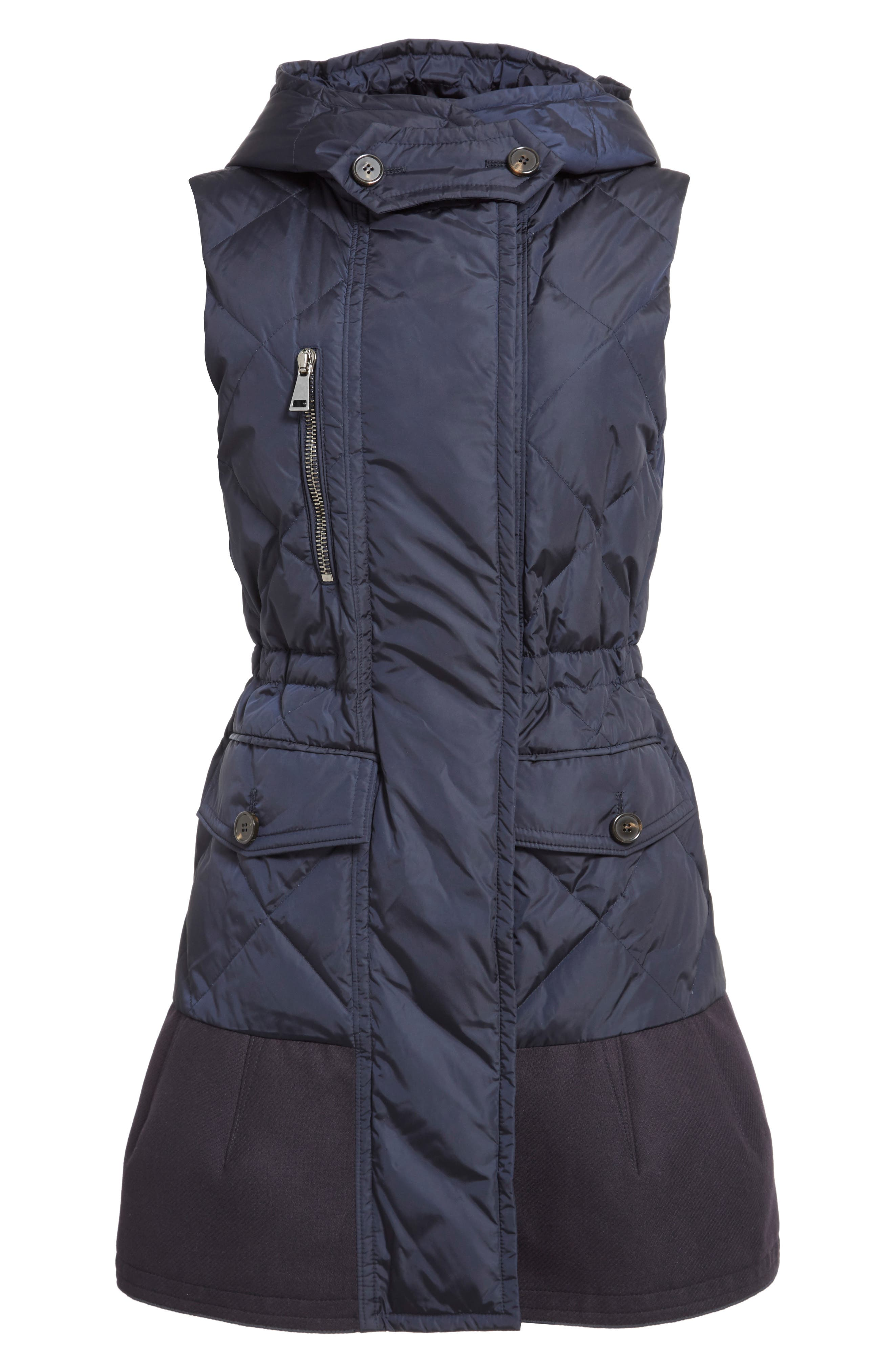 'Eles' Water Resistant Quilted Hooded Down Vest,                             Alternate thumbnail 6, color,                             419