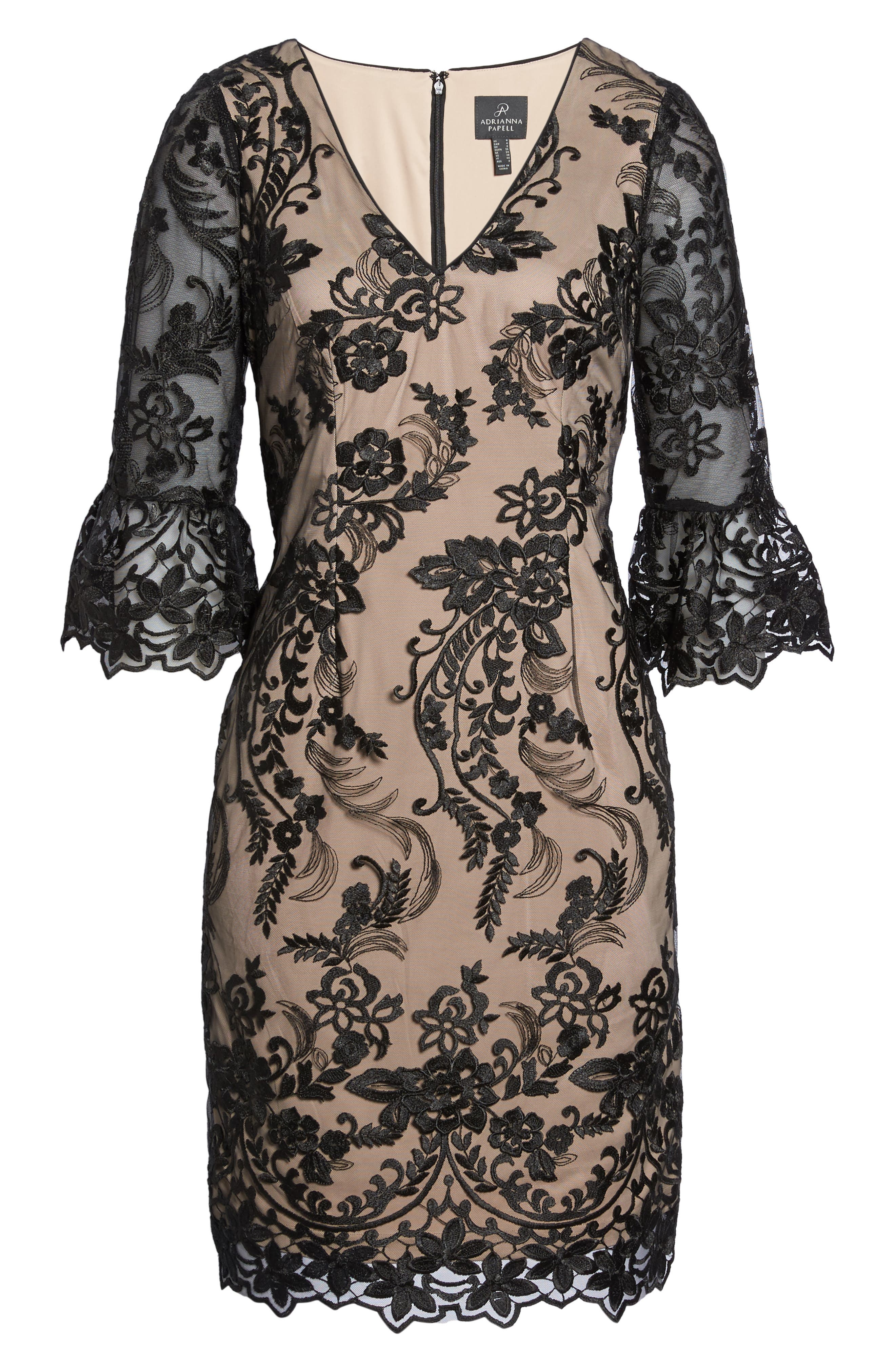Eillen Embroidered Lace Dress,                             Alternate thumbnail 6, color,                             017