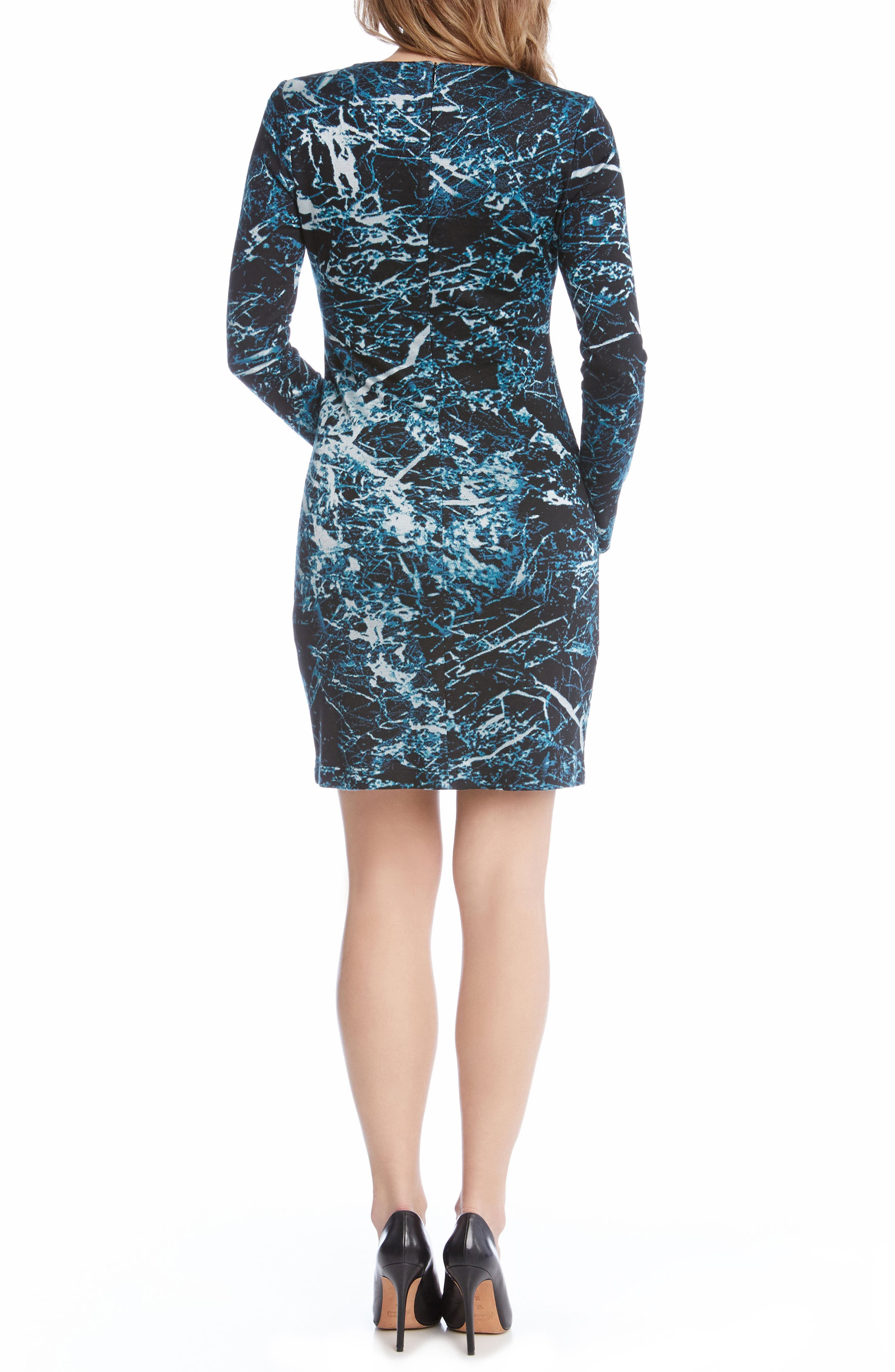 Granite Print Dress,                             Alternate thumbnail 4, color,