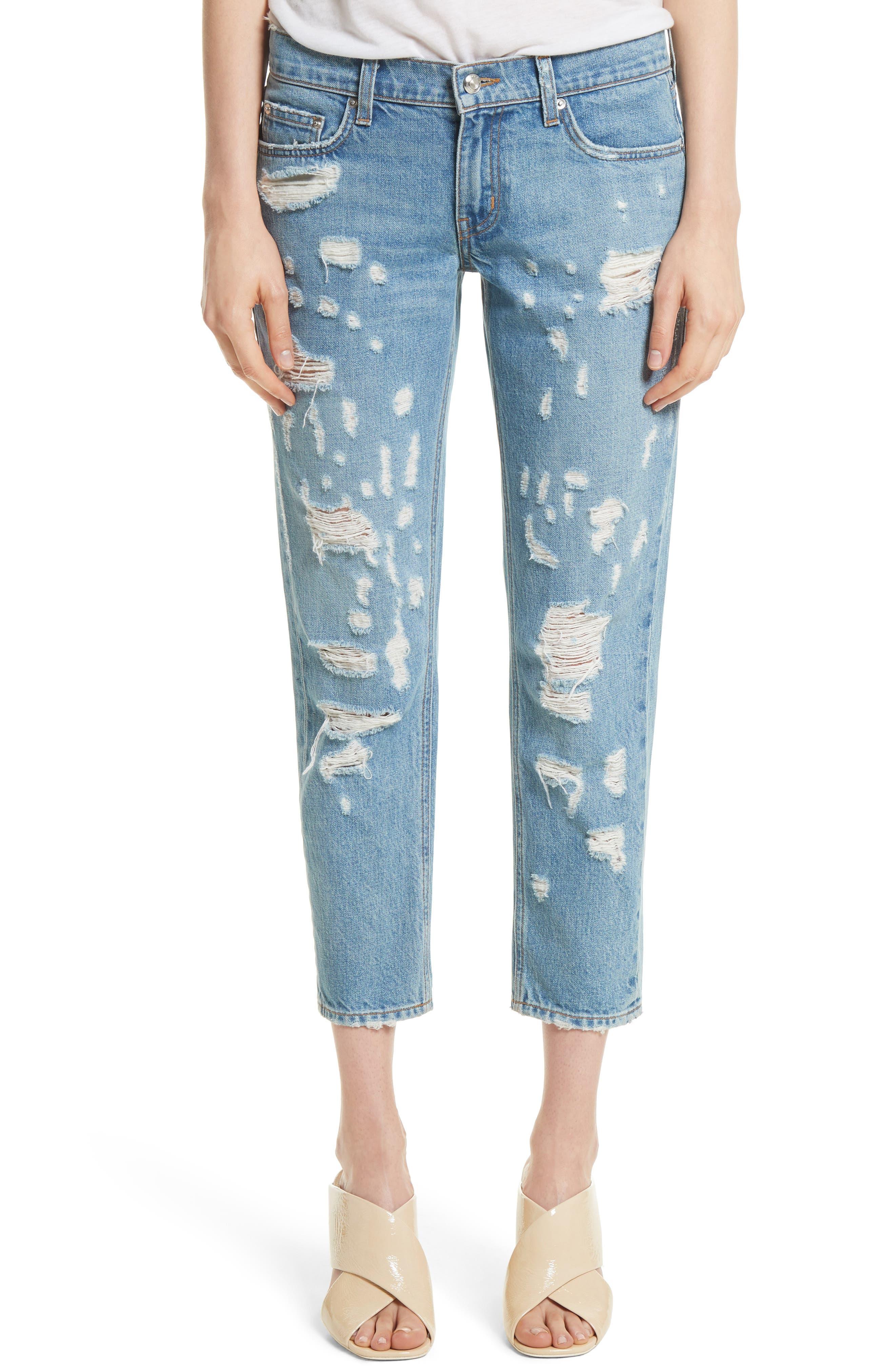 Mila Slim Girlfriend Jeans,                         Main,                         color, 450