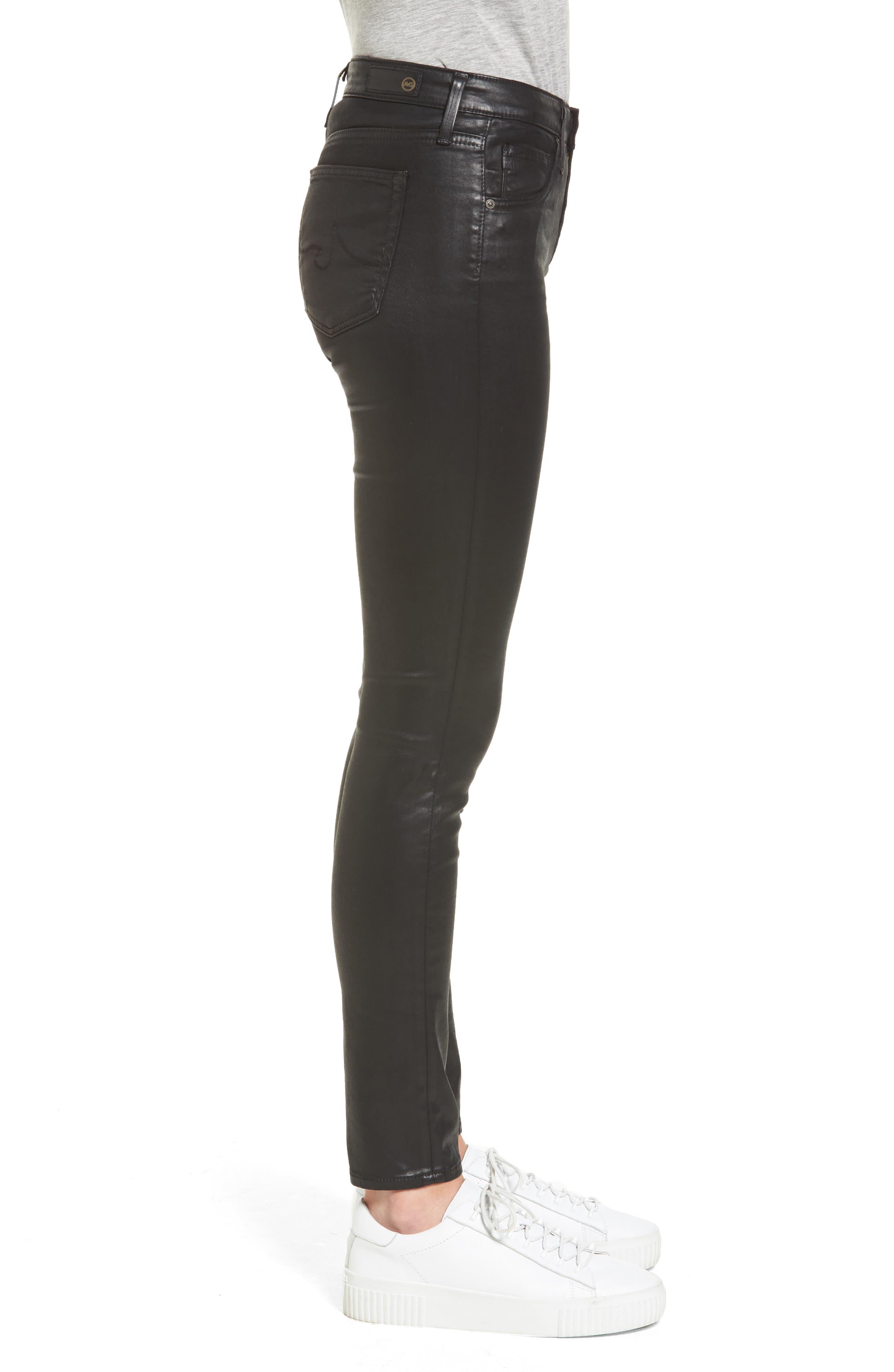 The Legging Ankle Jeans,                             Alternate thumbnail 3, color,                             LEATHERETTE SUPER BLACK