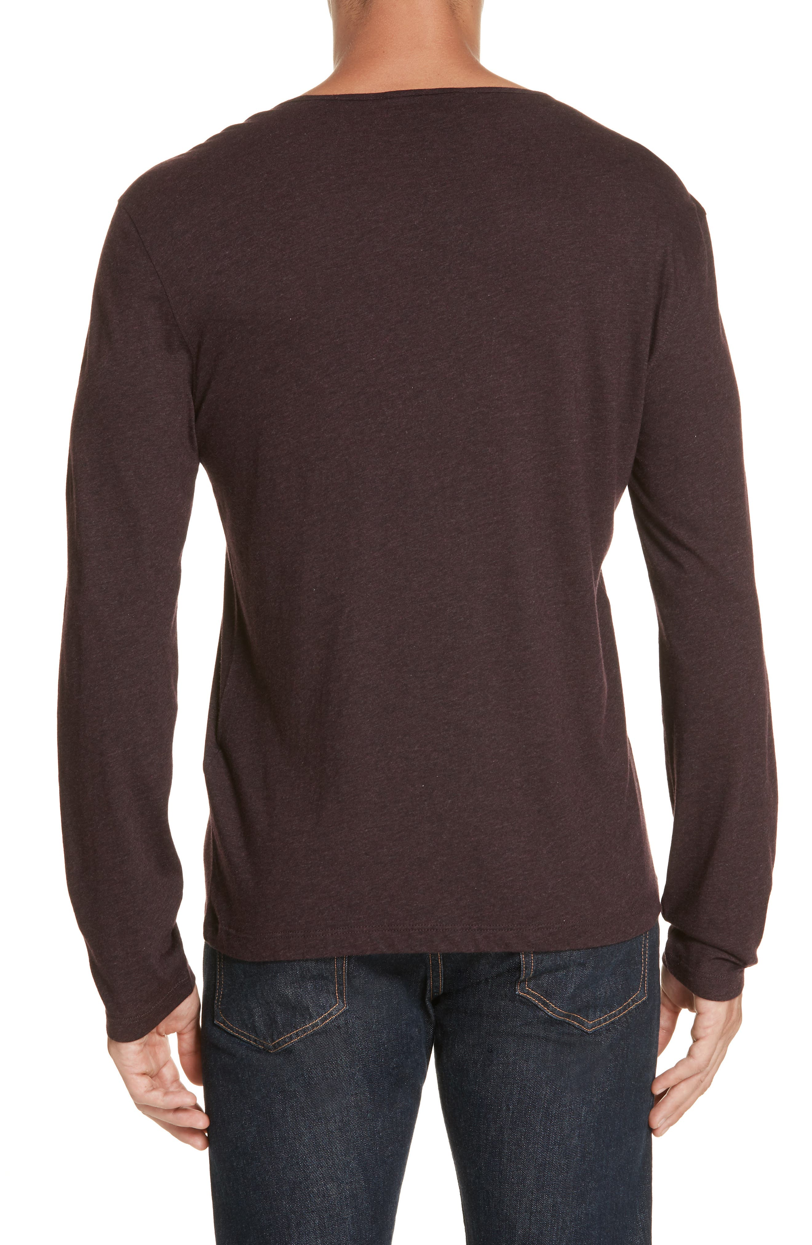 Long Sleeve T-Shirt,                             Alternate thumbnail 2, color,                             PORT