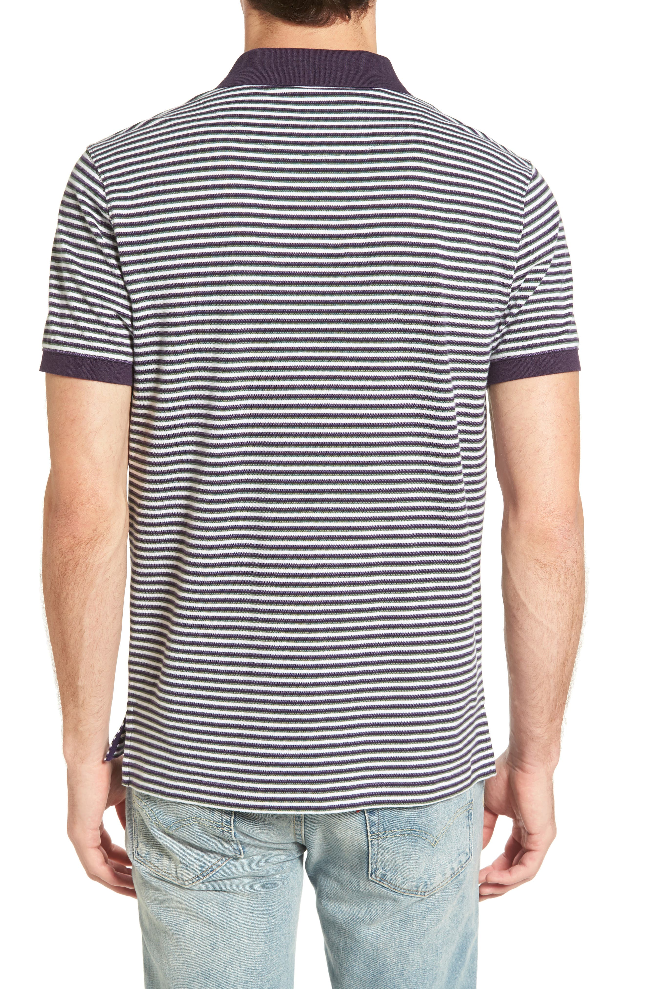 Swyers Point Sports Fit Stripe Polo,                             Alternate thumbnail 2, color,