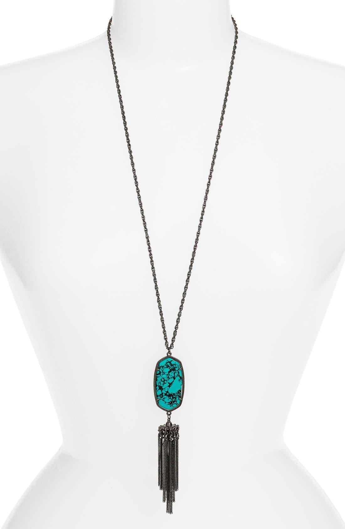 Rayne Stone Tassel Pendant Necklace,                             Main thumbnail 51, color,