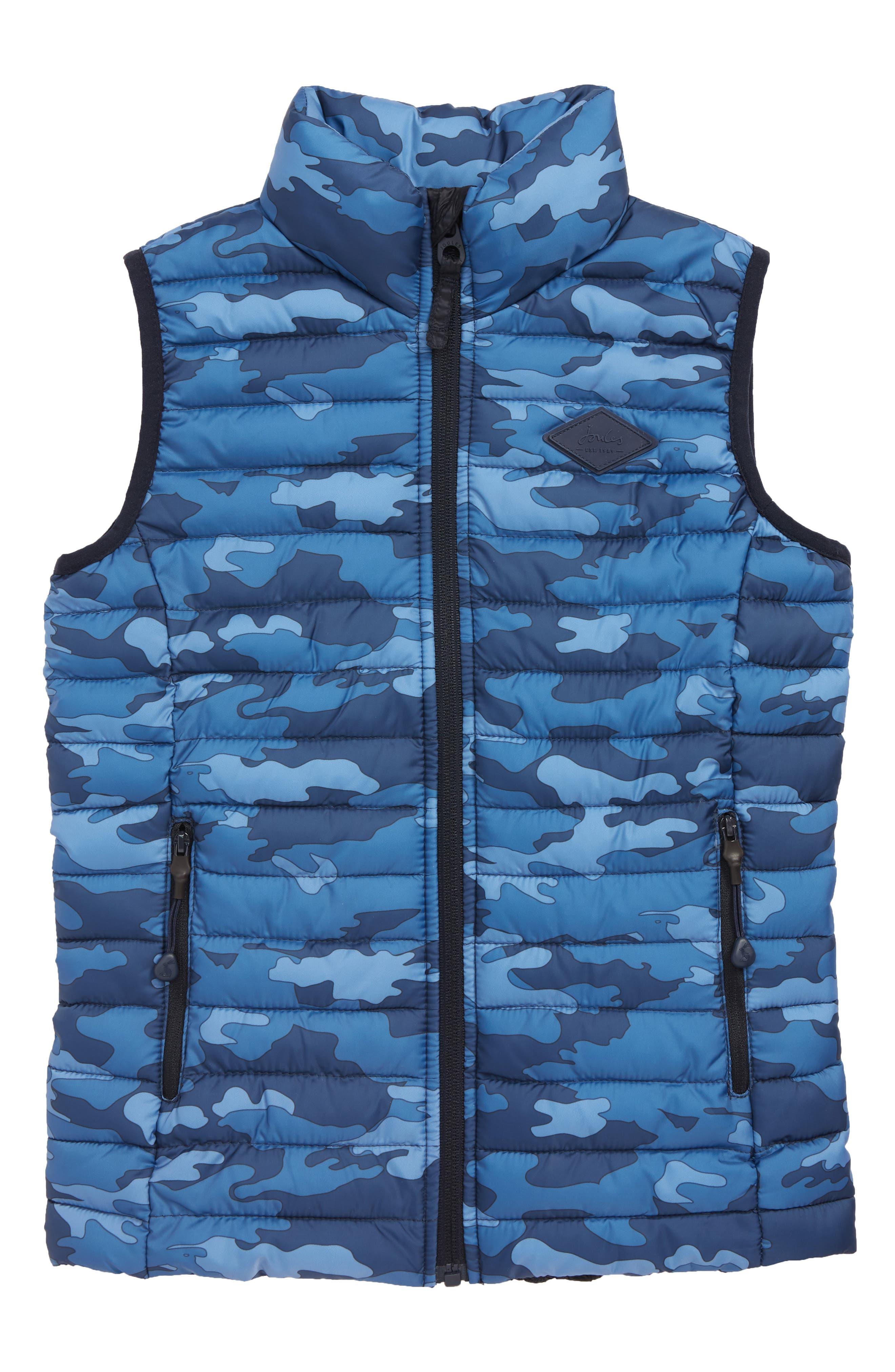 Boys Joules Crofton Print Packable Vest