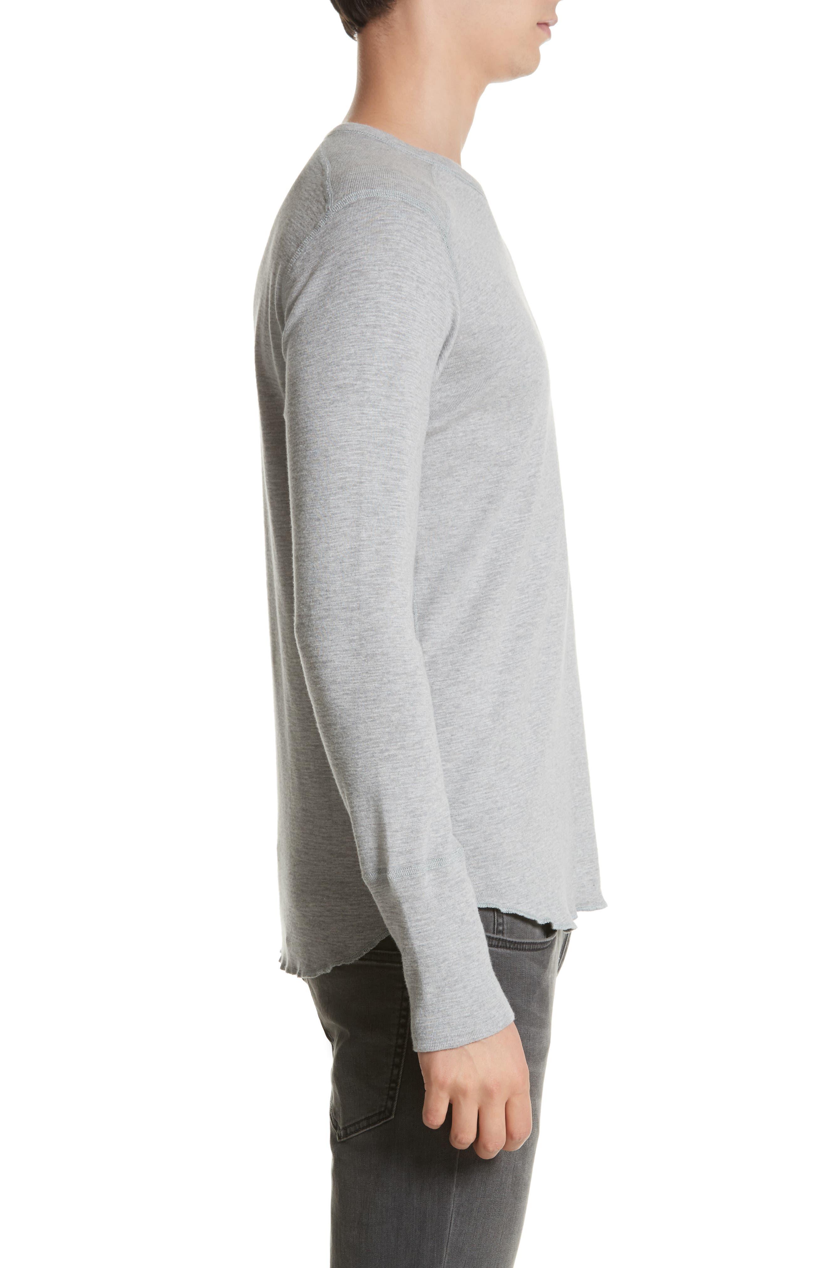 Slub Crewneck Sweater,                             Alternate thumbnail 3, color,                             HEATHER GREY