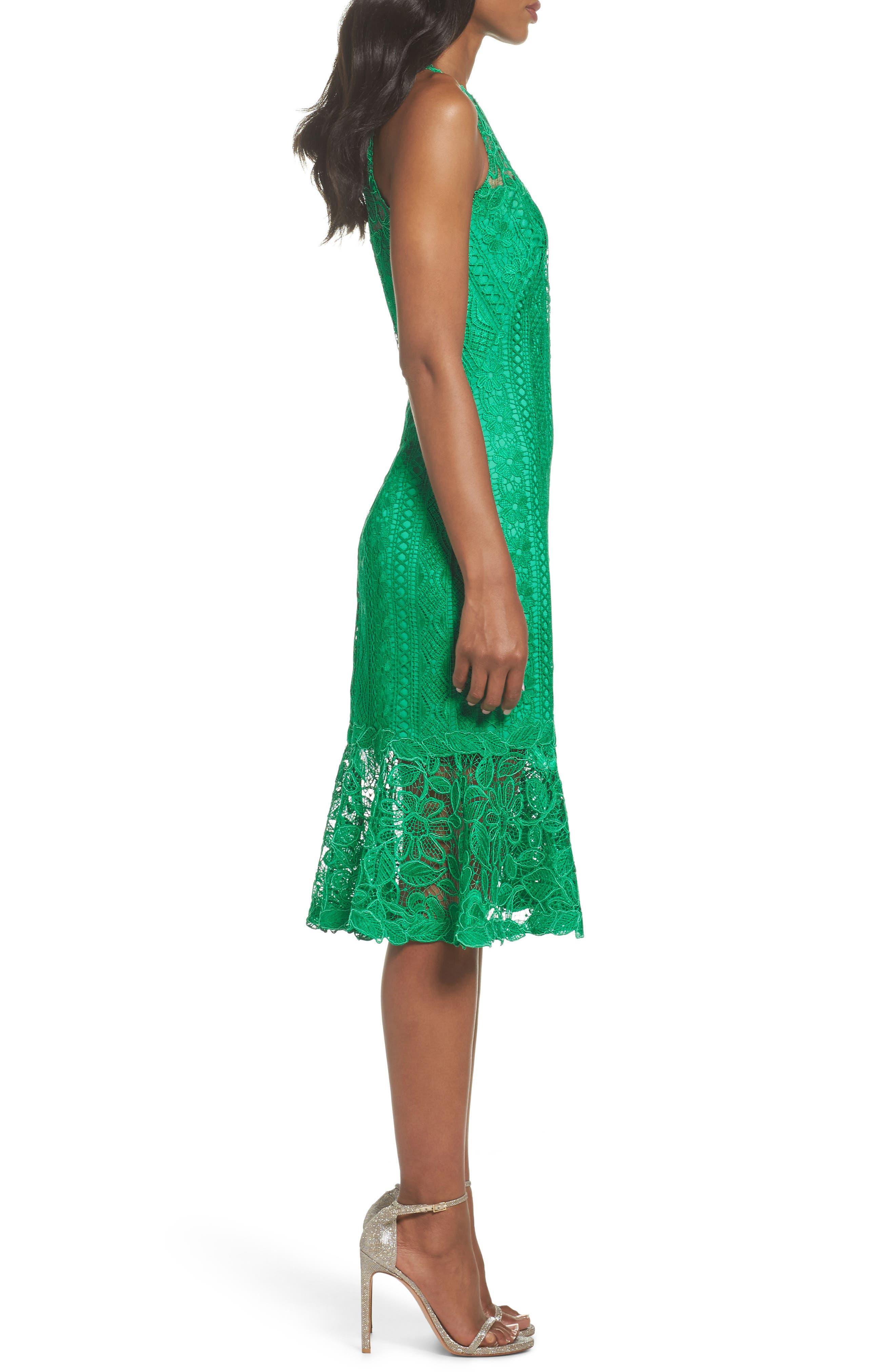 Lace Shift Dress,                             Alternate thumbnail 3, color,                             346