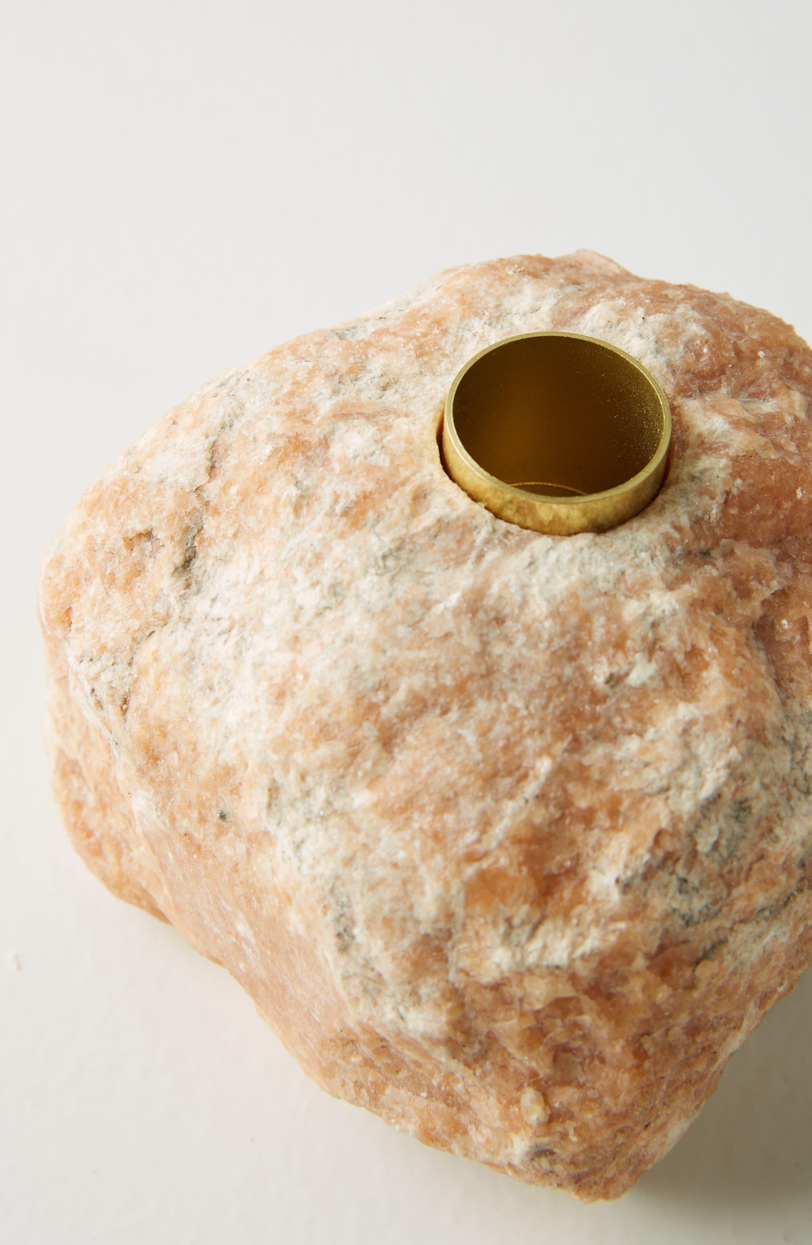 Stone Taper Candleholder,                             Alternate thumbnail 4, color,