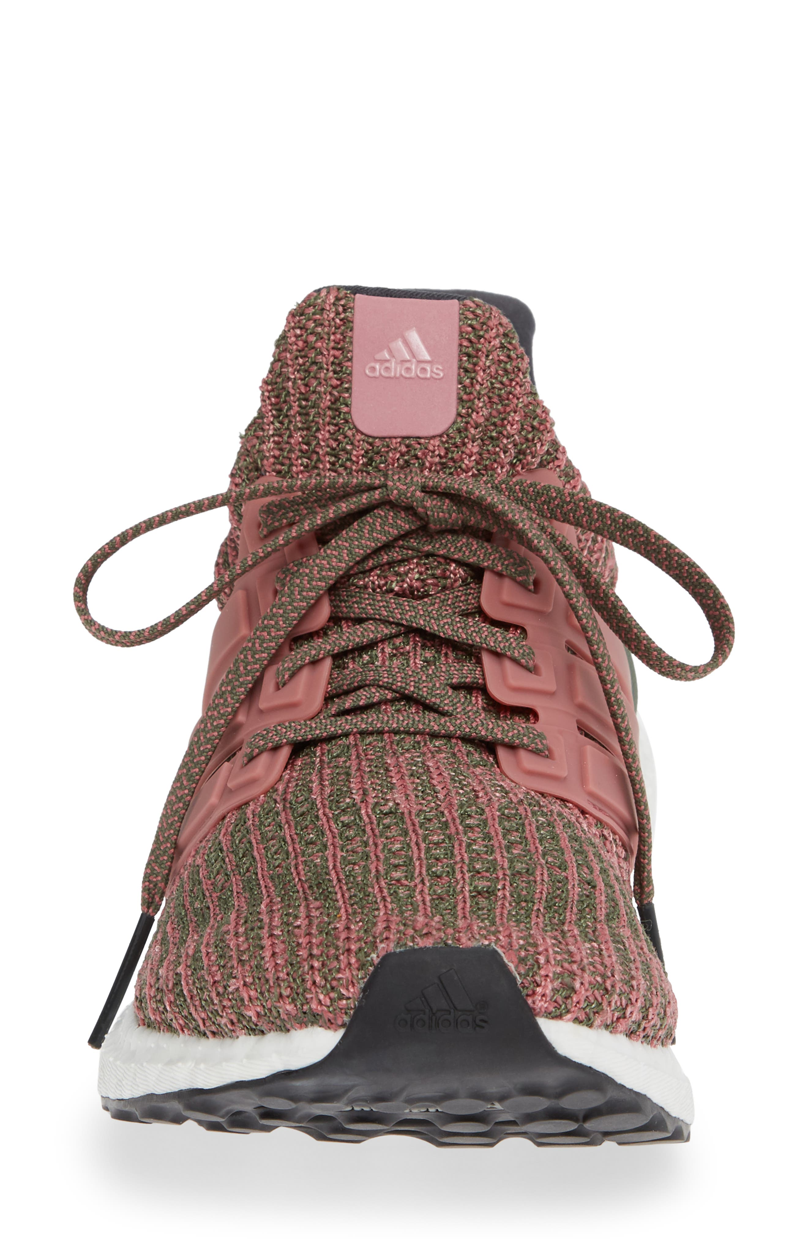 'UltraBoost' Running Shoe,                             Alternate thumbnail 4, color,                             TRACE MAROON/ BASE GREEN