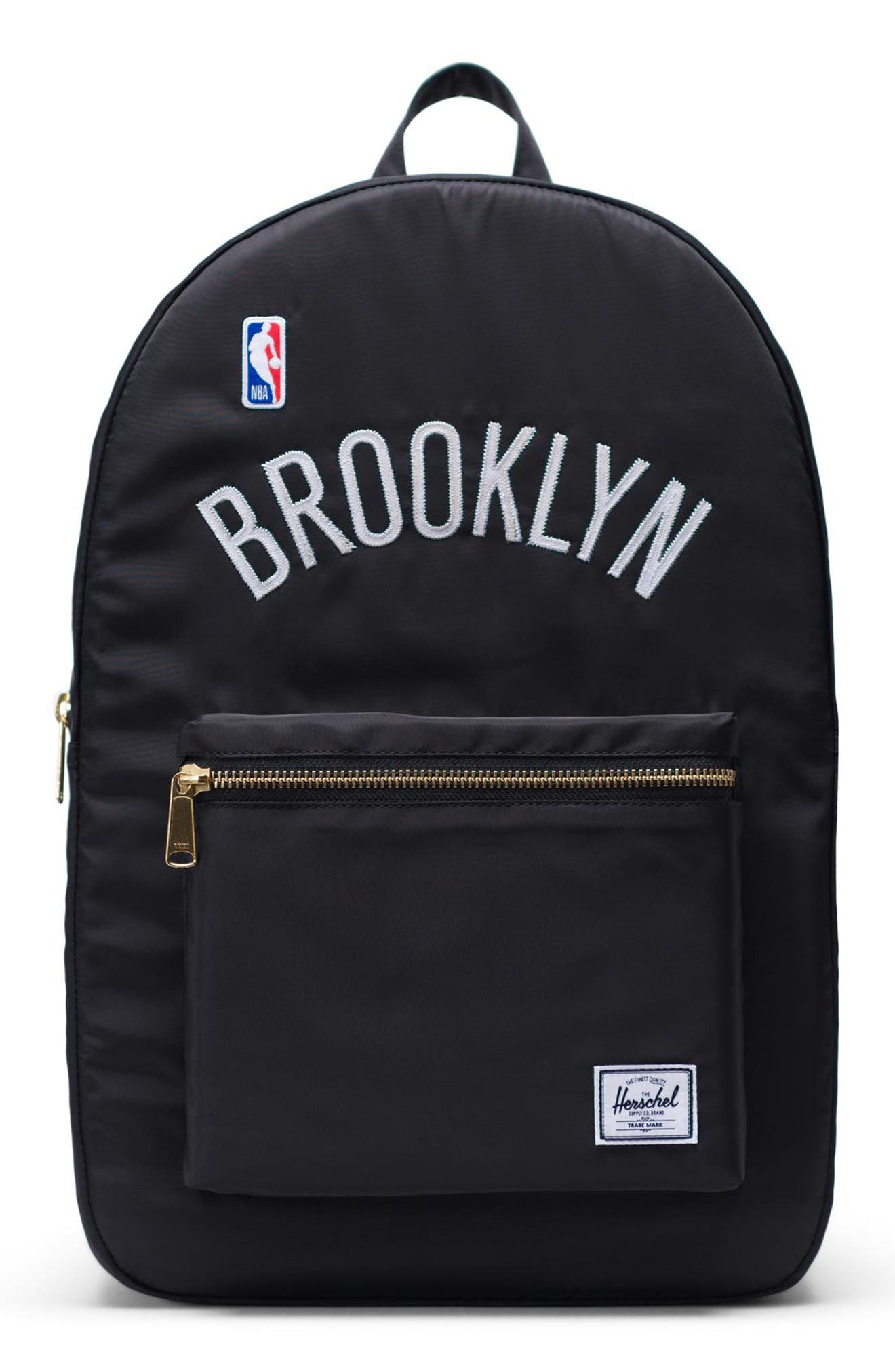 Settlement - NBA Champion Backpack,                             Main thumbnail 1, color,                             BROOKLYN NETS