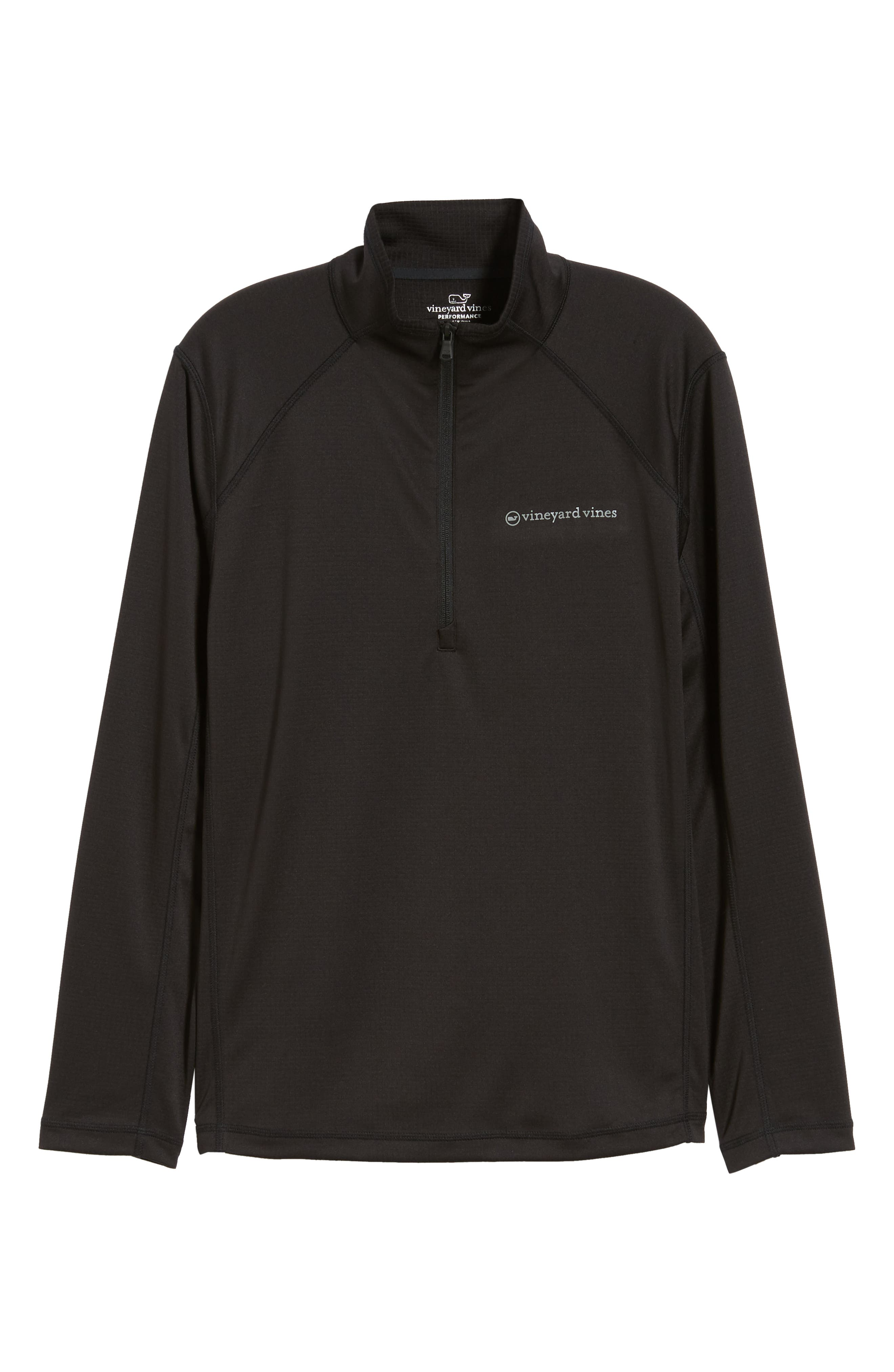 The New Nine Mile Half Zip Pullover,                             Alternate thumbnail 6, color,                             JET BLACK
