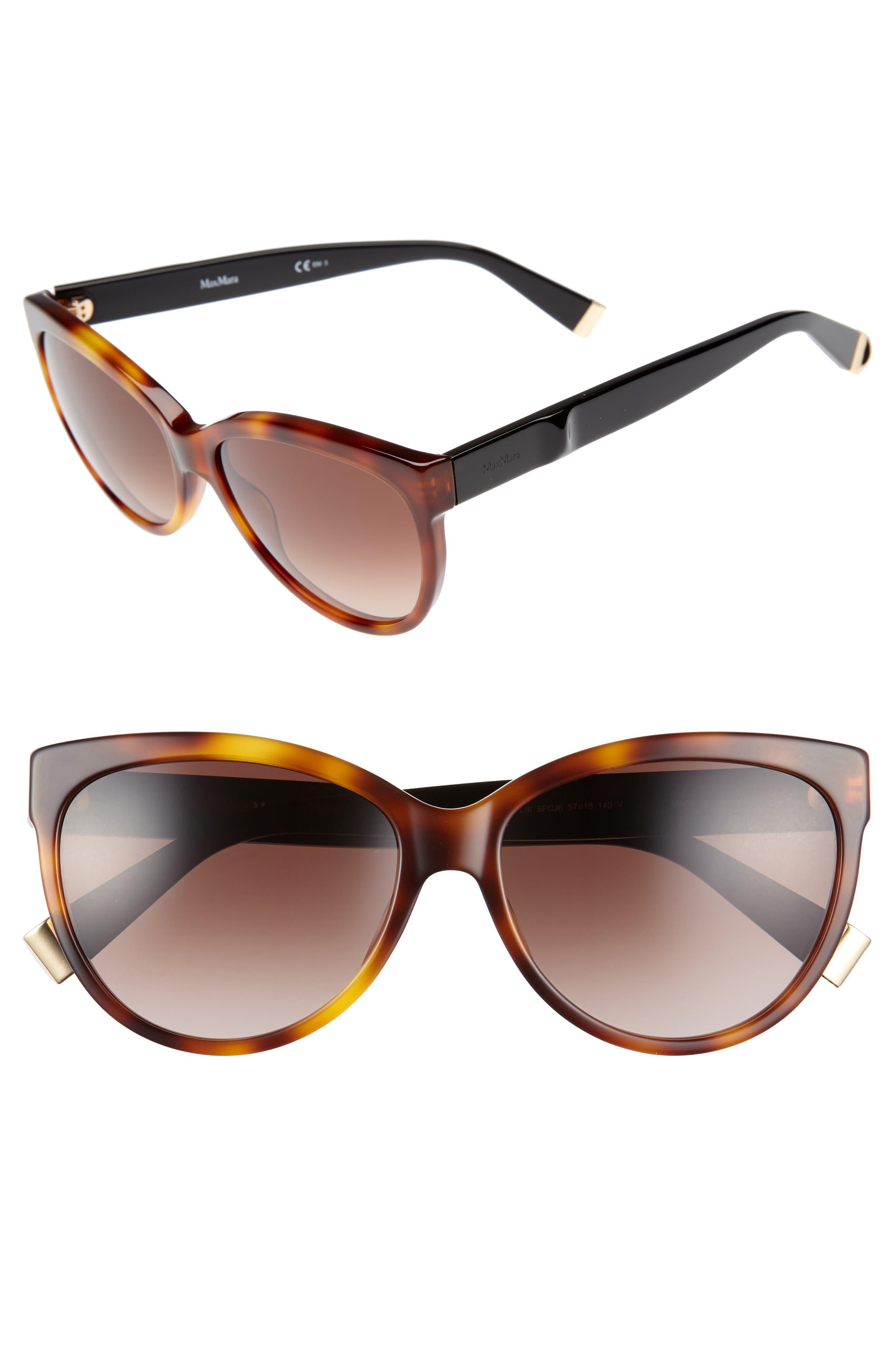 Moderii 57mm Gradient Cat Eye Sunglasses,                             Main thumbnail 2, color,