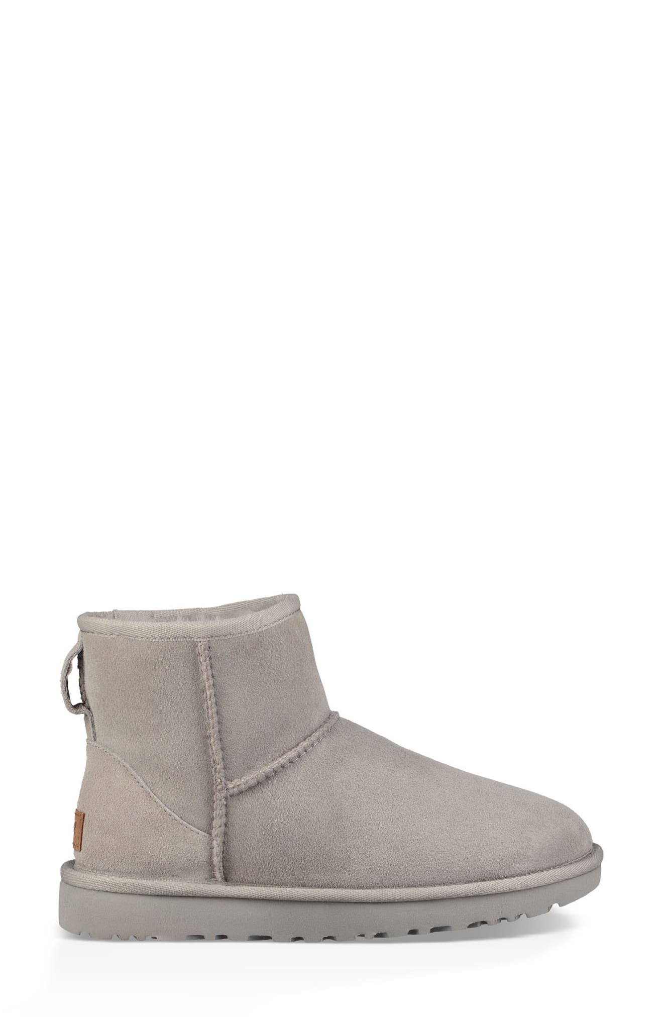 'Classic Mini II' Genuine Shearling Lined Boot,                             Alternate thumbnail 3, color,                             SEAL SUEDE