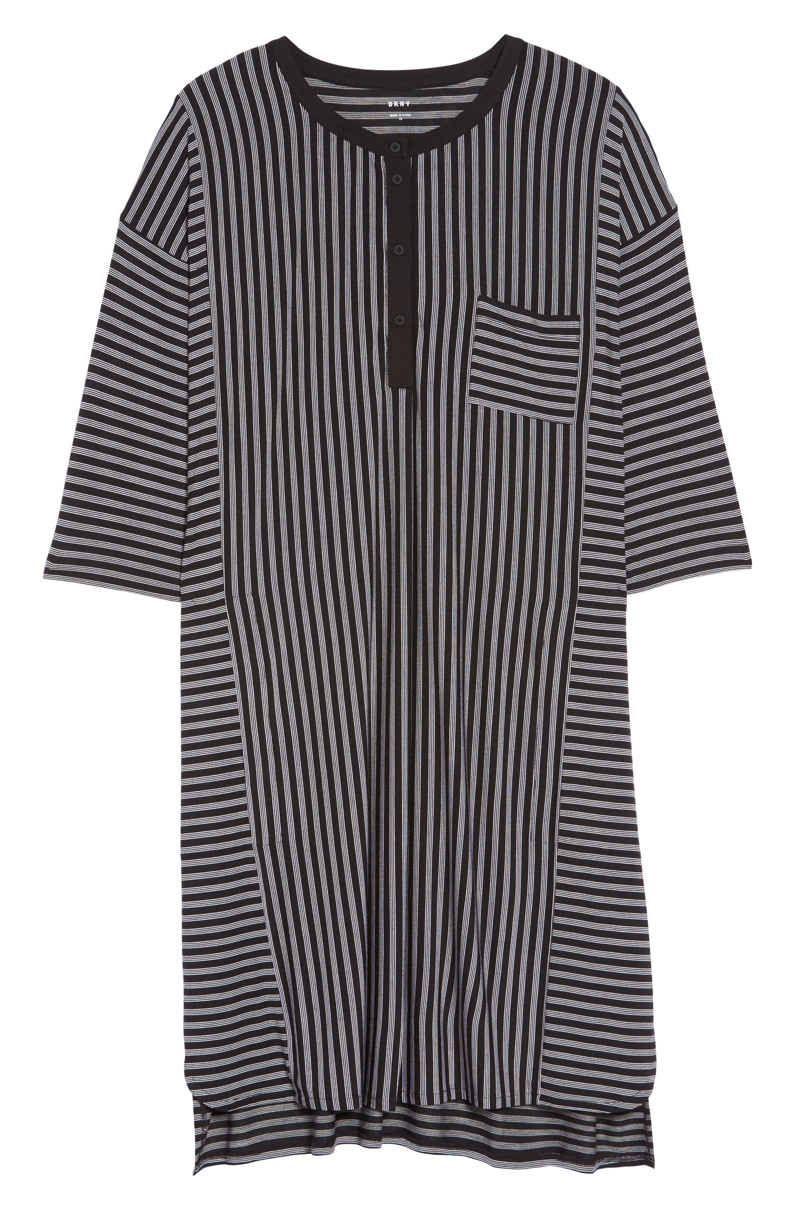 Stripe Sleepshirt,                             Alternate thumbnail 6, color,                             001